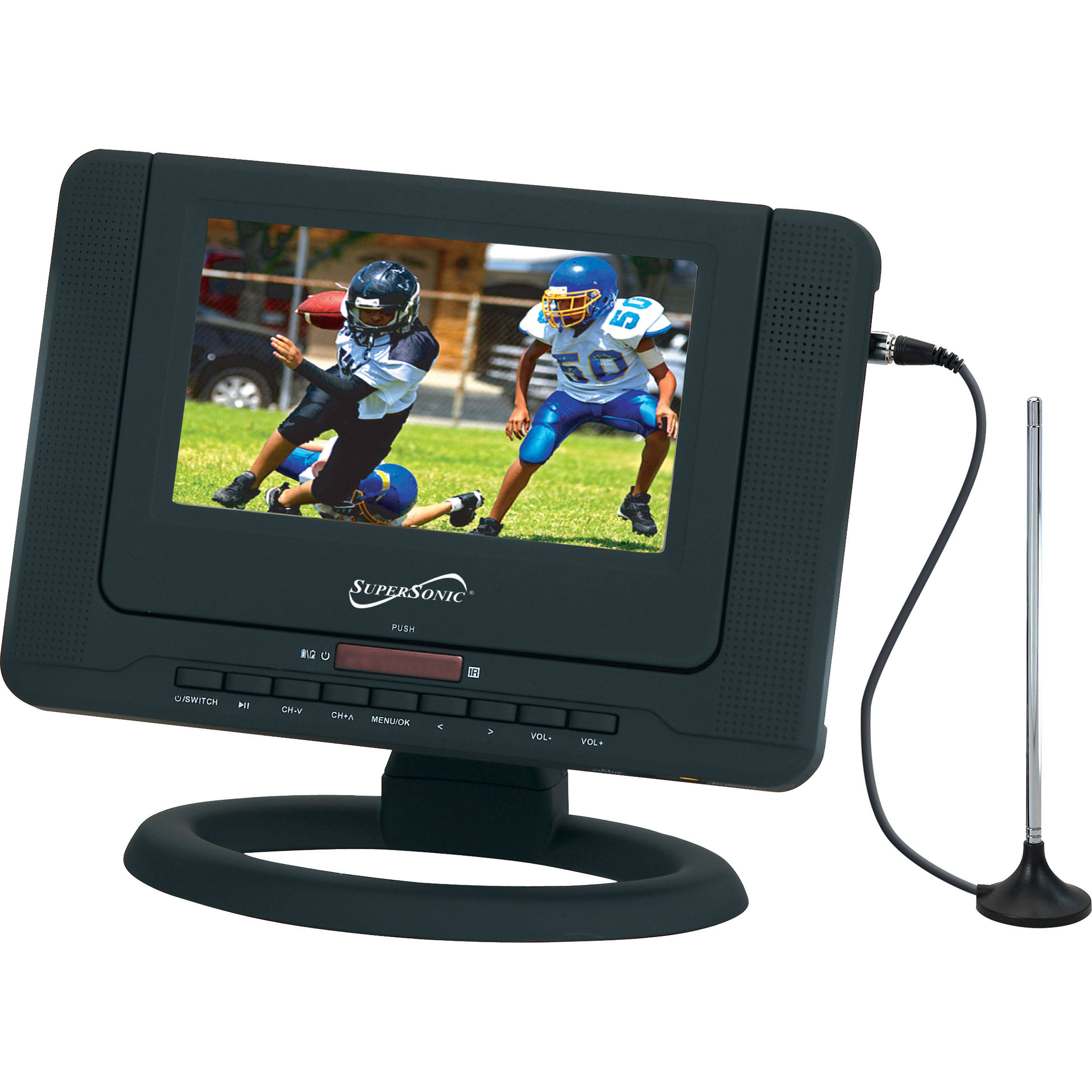 Supersonic Sc 491 7 Portable Lcd Tv With Dvd Player Sc 491