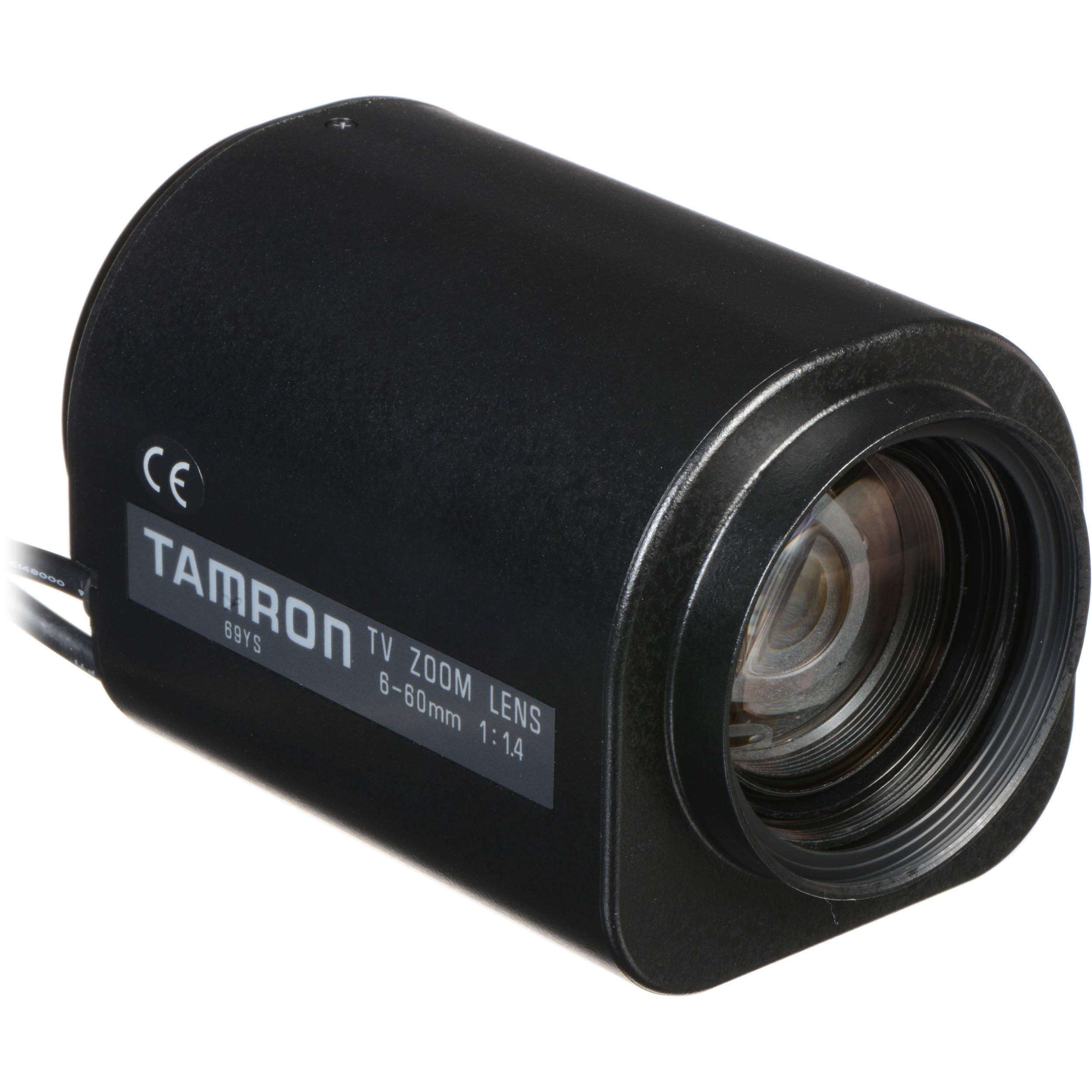 "Tamron 13PZG10X6C 1 3"" 6 60mm F 1 4 CS Mount pact Zoom Lens with Auto Iris DC"