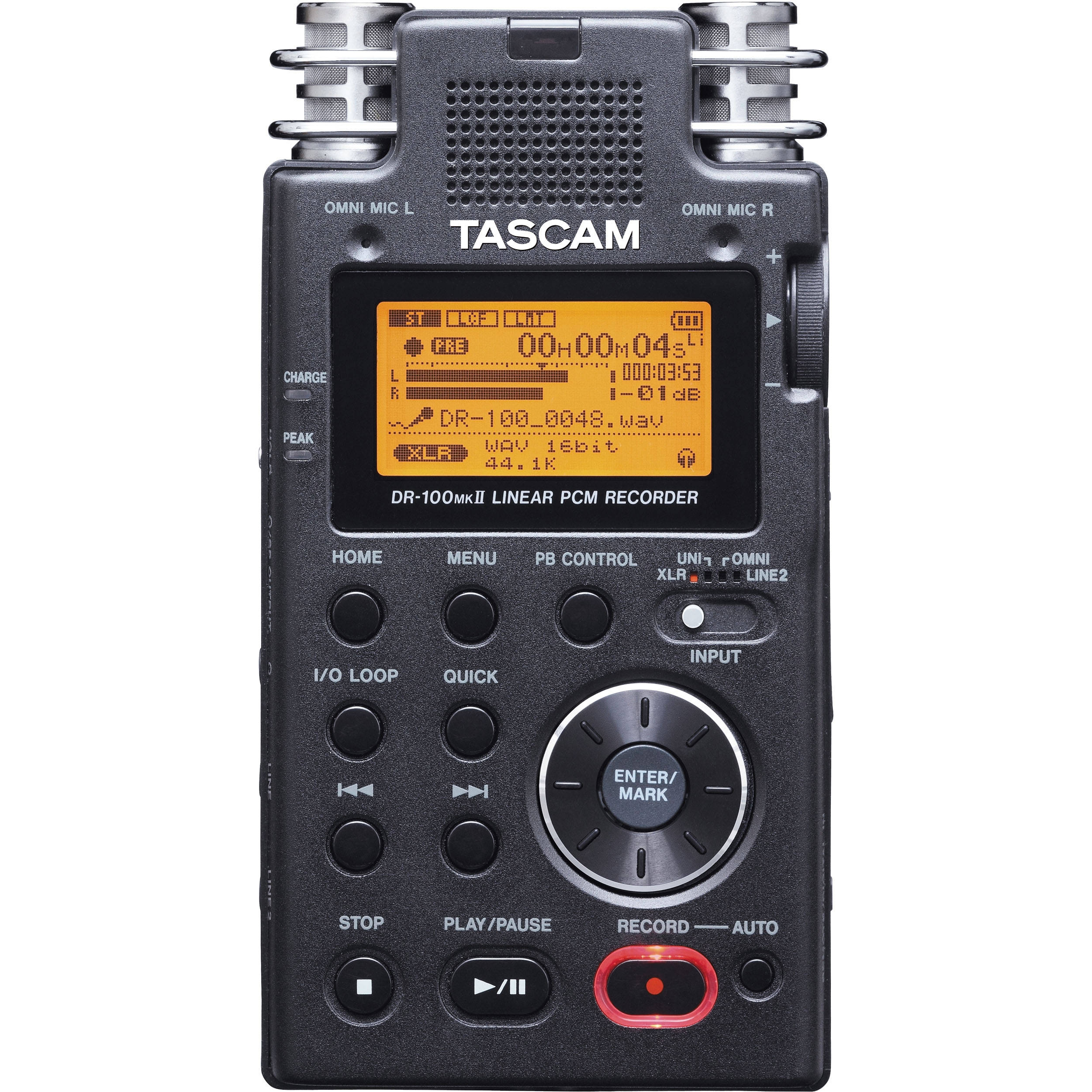 Tascam Dr 100mkii Portable 2 Channel Linear Pcm Dr