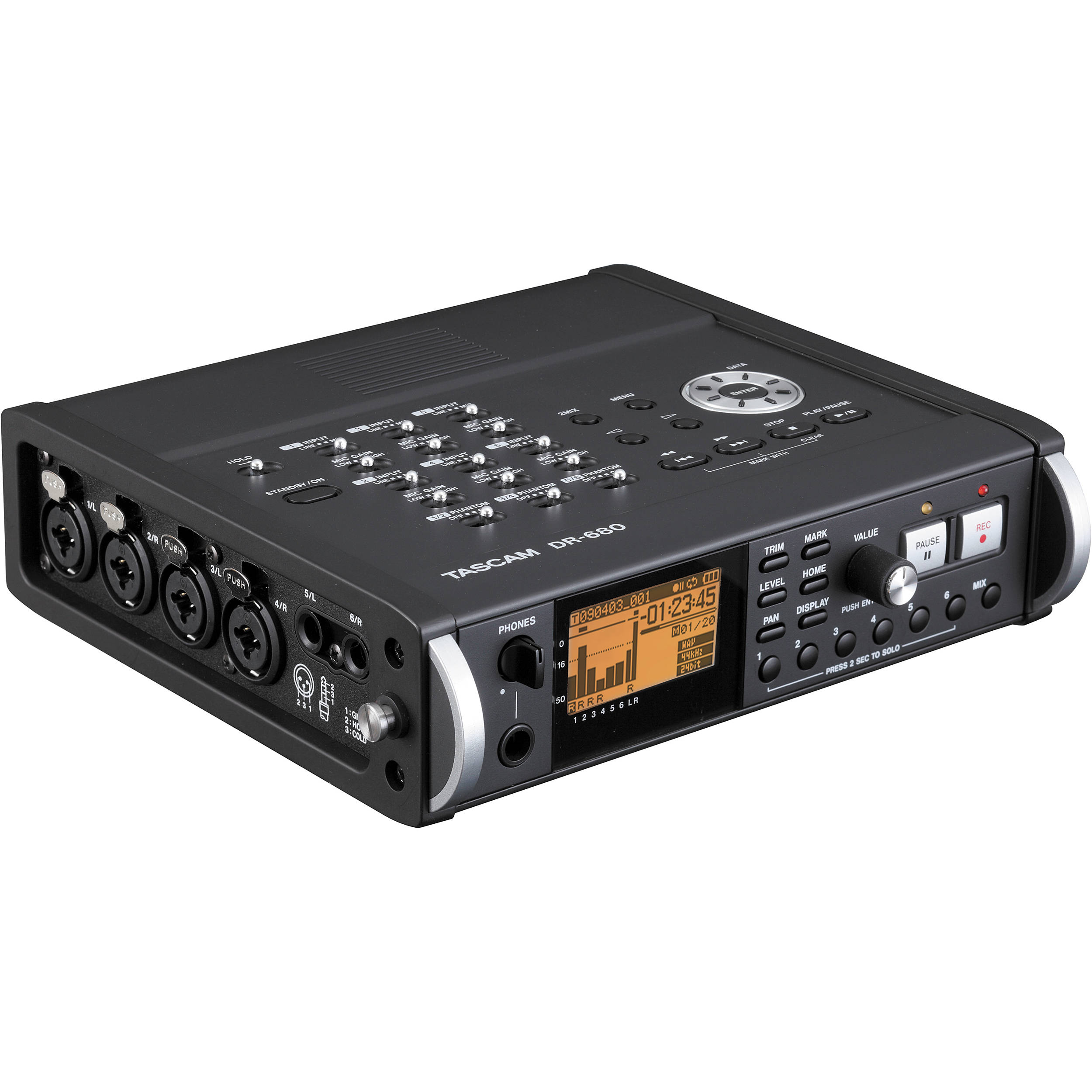 tascam dr 680 8 track portable field audio recorder dr 680 b h. Black Bedroom Furniture Sets. Home Design Ideas