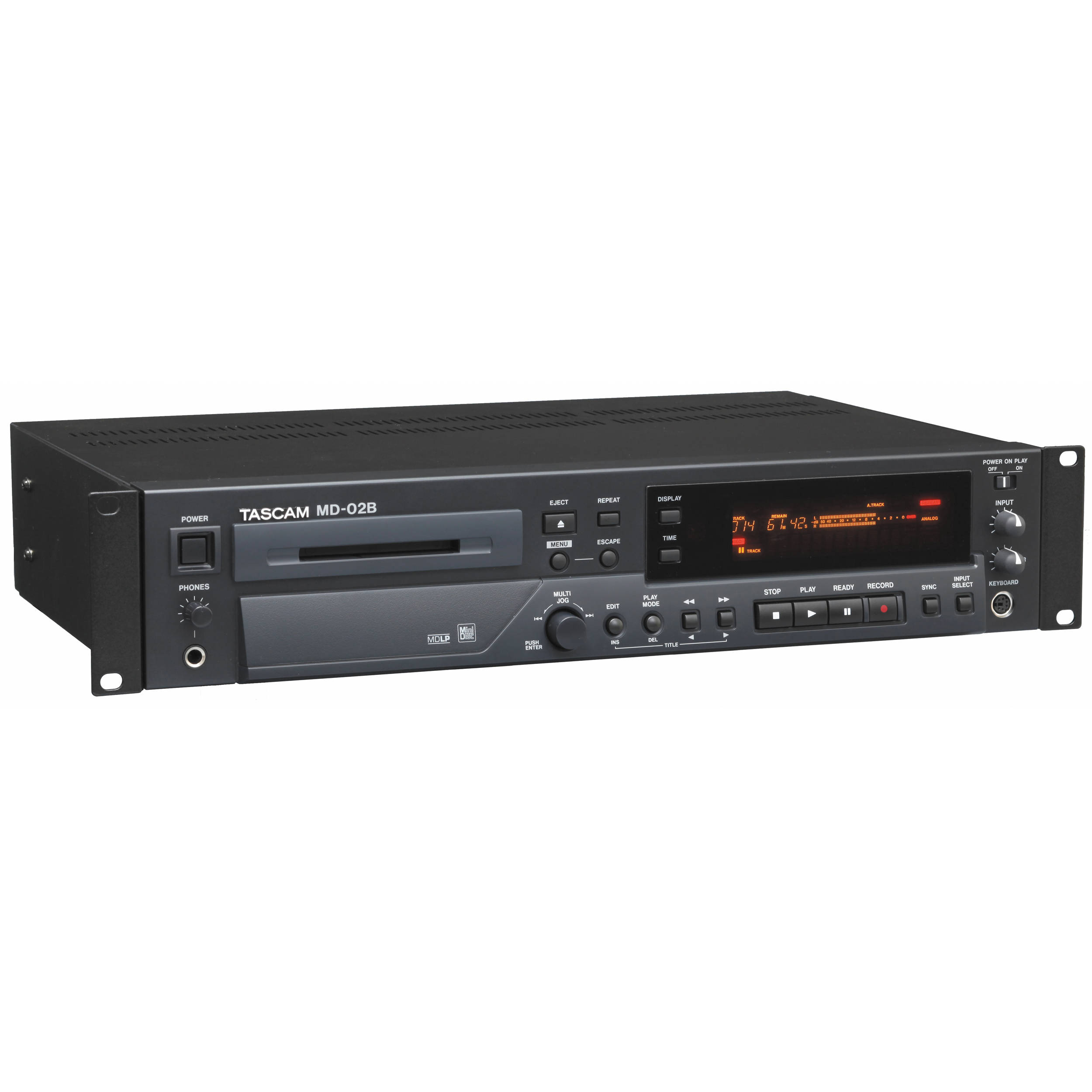 tascam md 02b rackmount minidisc audio recorder md 02b b h photo rh bhphotovideo com