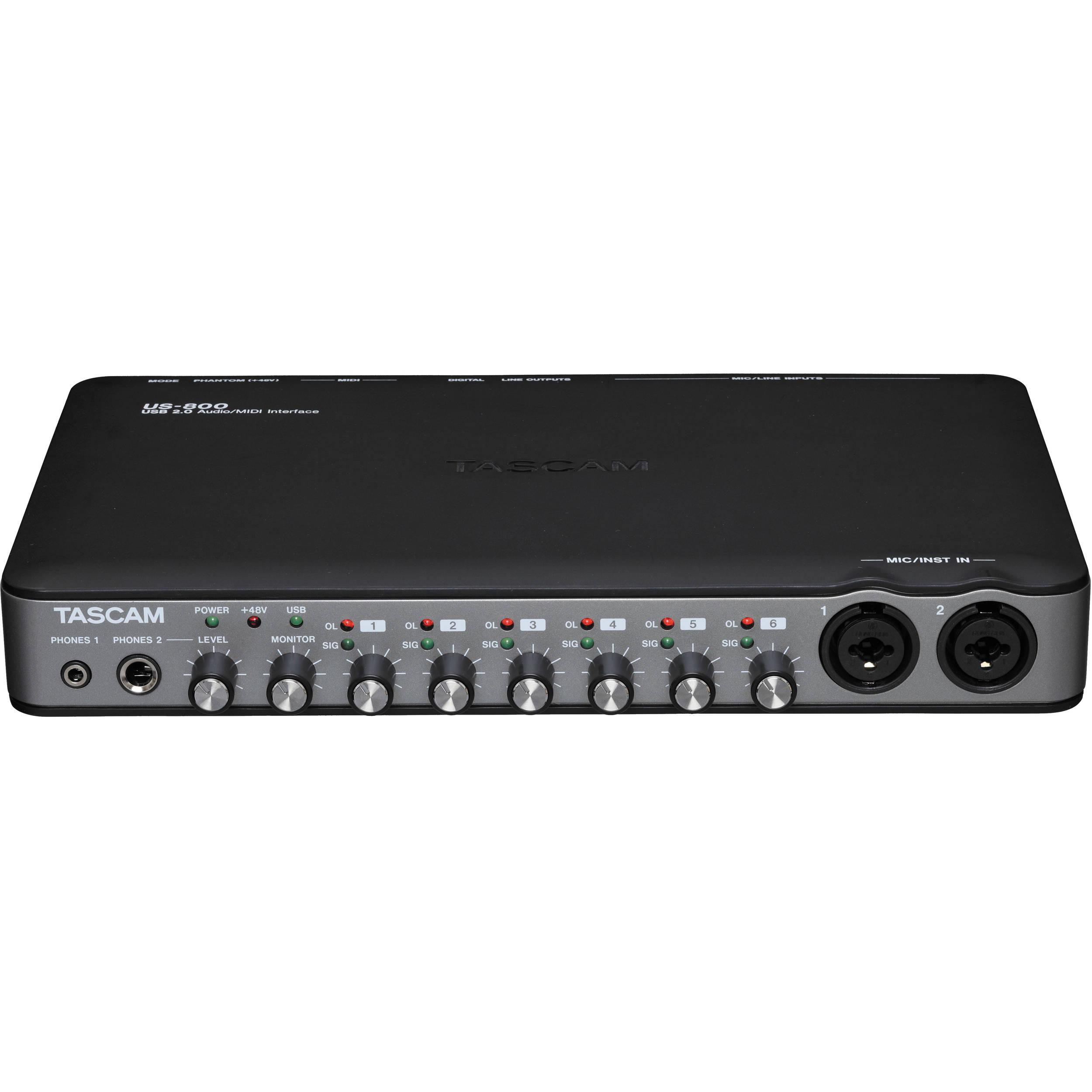 tascam us 800 8 input 4 output usb 2 0 audio midi us 800 b h