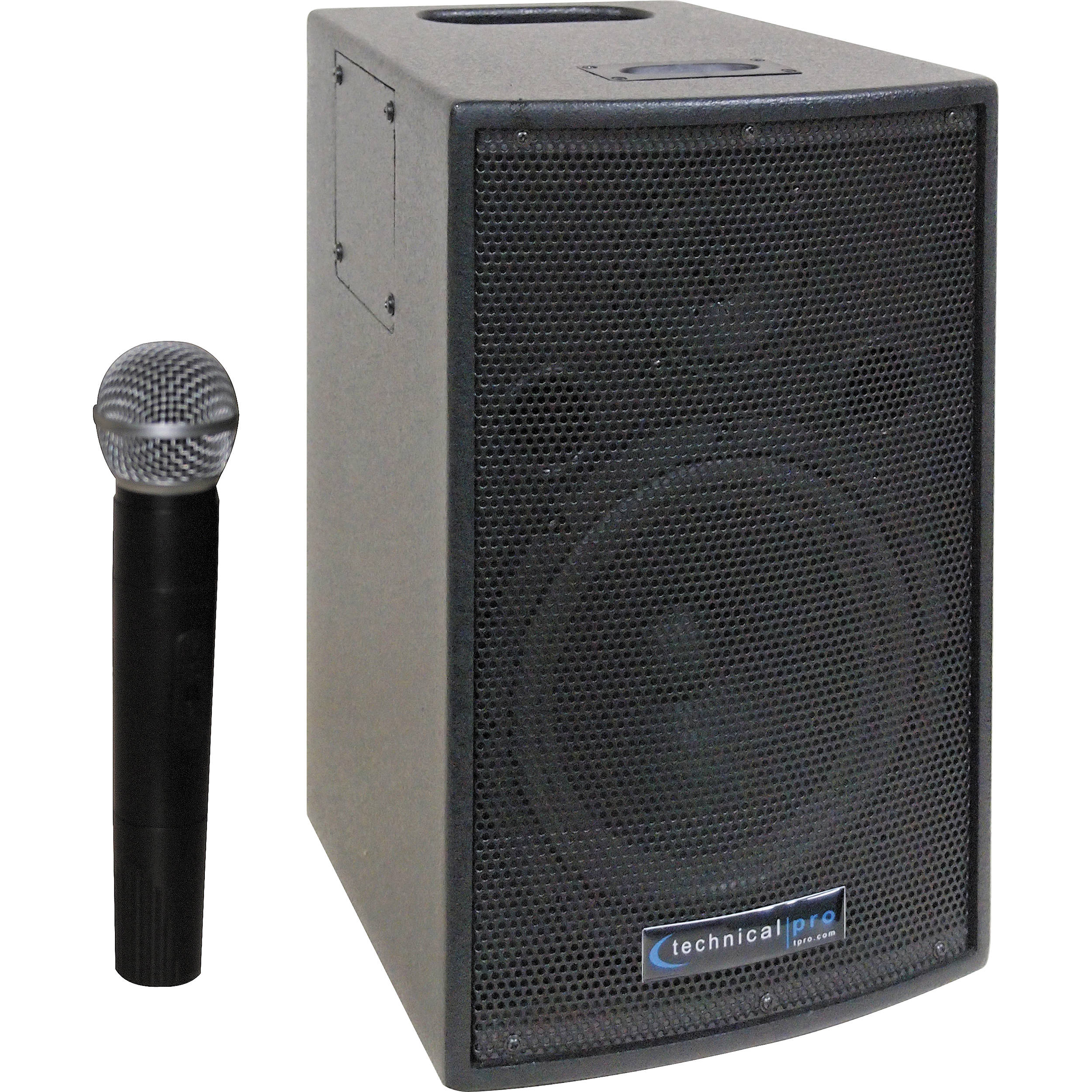 technical pro wasp500 battery powered pa system wasp500 b h. Black Bedroom Furniture Sets. Home Design Ideas