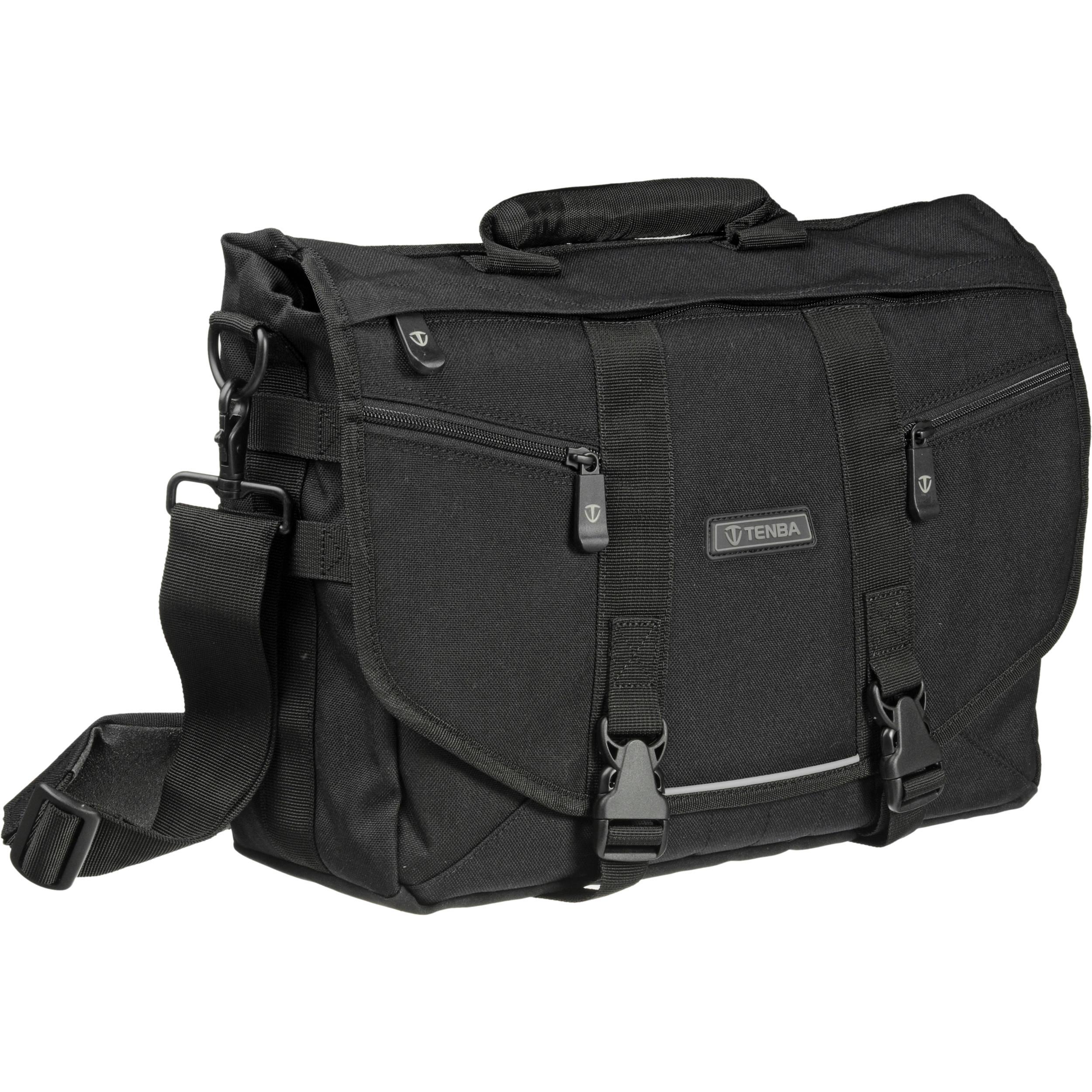 Tenba Messenger: Small Photo/Laptop Bag (Black) 638-221 B&H