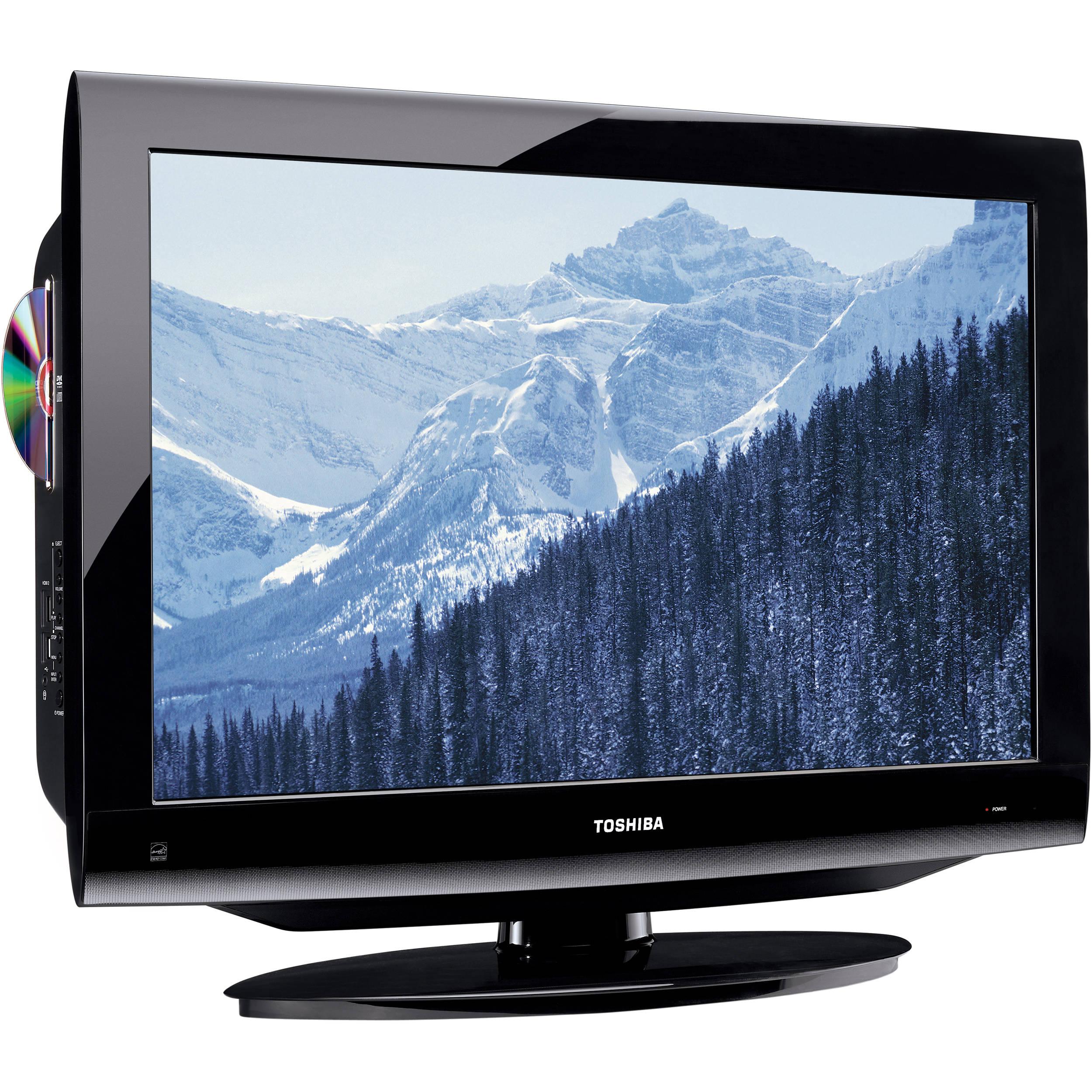 toshiba 32cv100u 32 720p lcd hdtv dvd combo 32cv100u b h. Black Bedroom Furniture Sets. Home Design Ideas