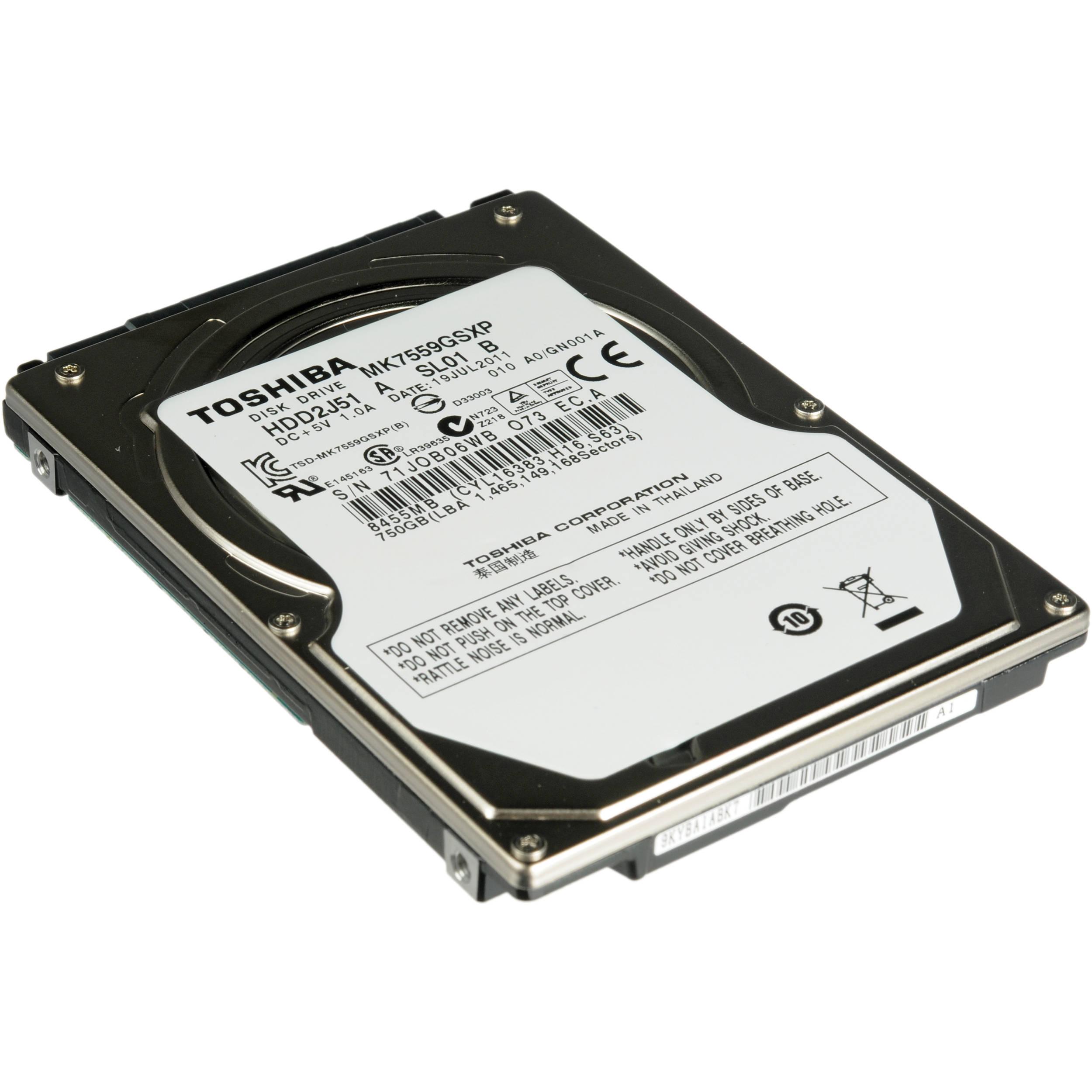 "Toshiba 750GB MK7559GSXP 2.5"" Hard Disk Drive MK7559GSXP"