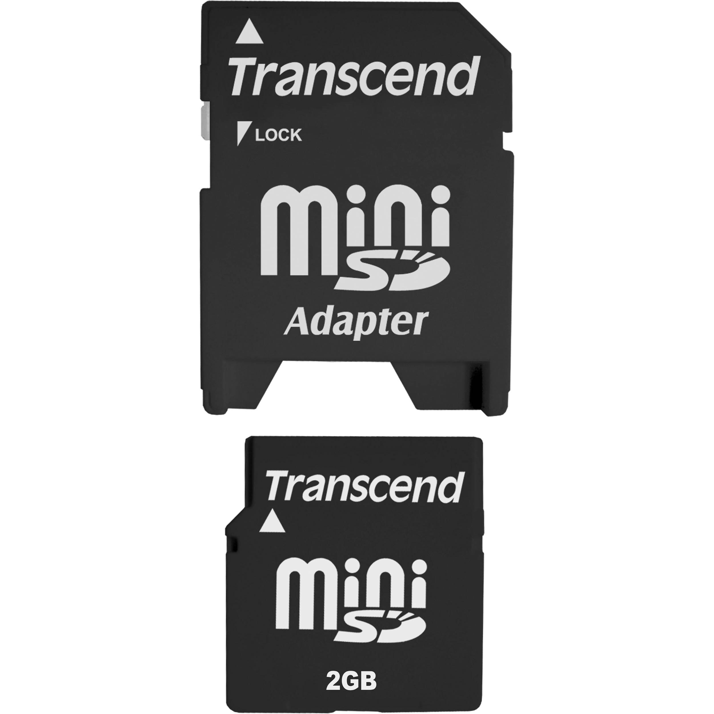transcend 2gb minisd memory card 80x ts2gsdm b h photo video. Black Bedroom Furniture Sets. Home Design Ideas
