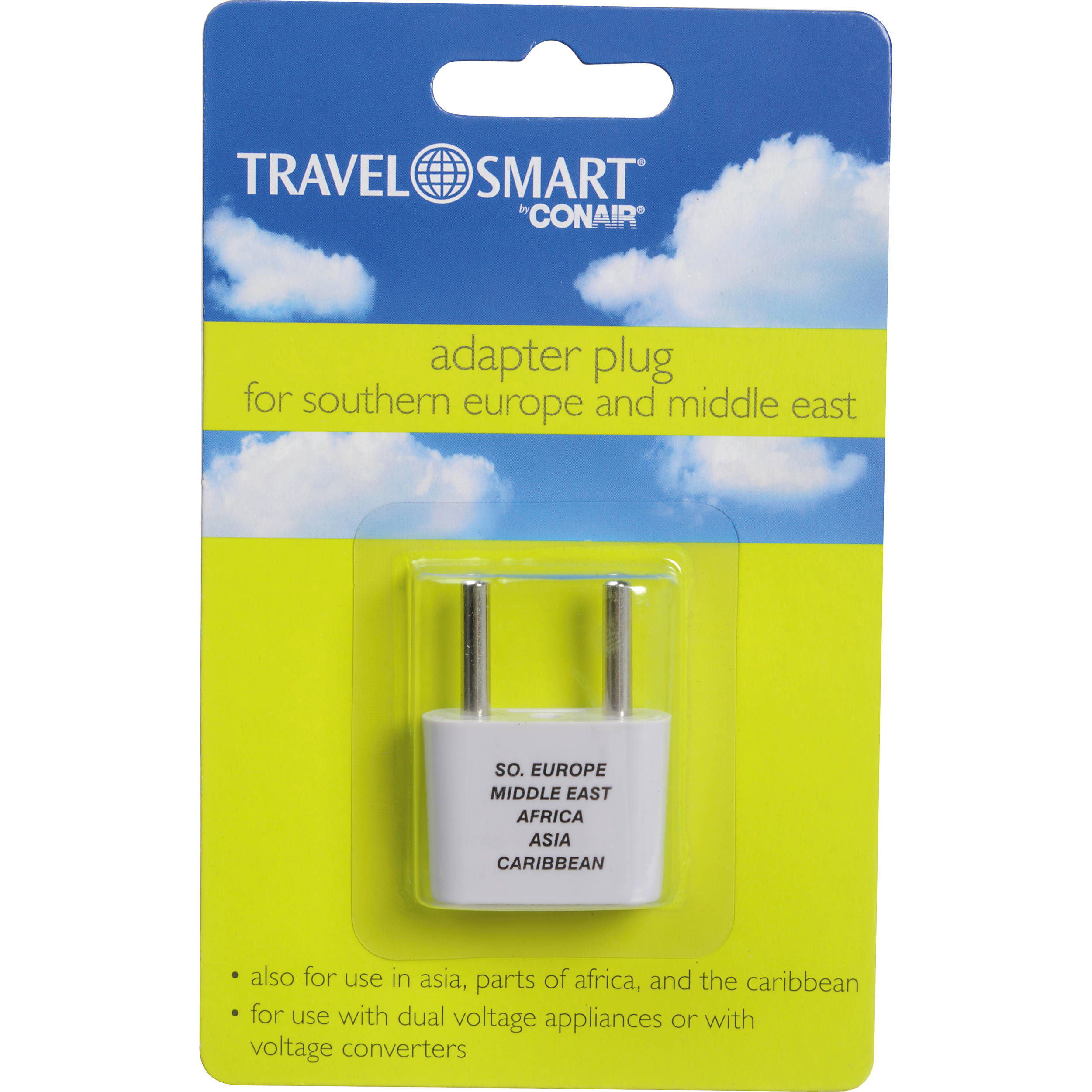 travel smart by conair nw1c adapter plug 2 prong usa nw1x b h