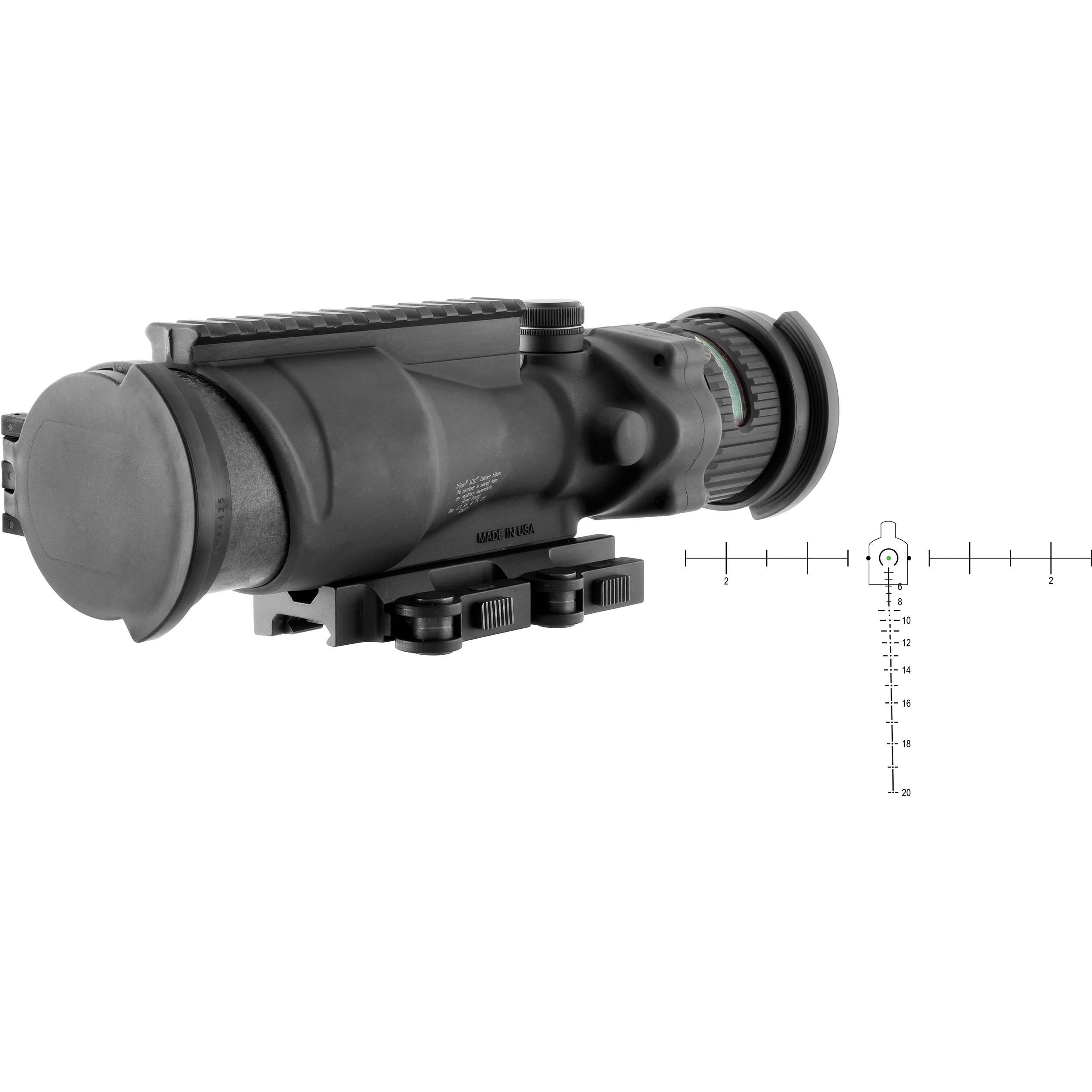 trijicon acog 6x48 machine gun optic