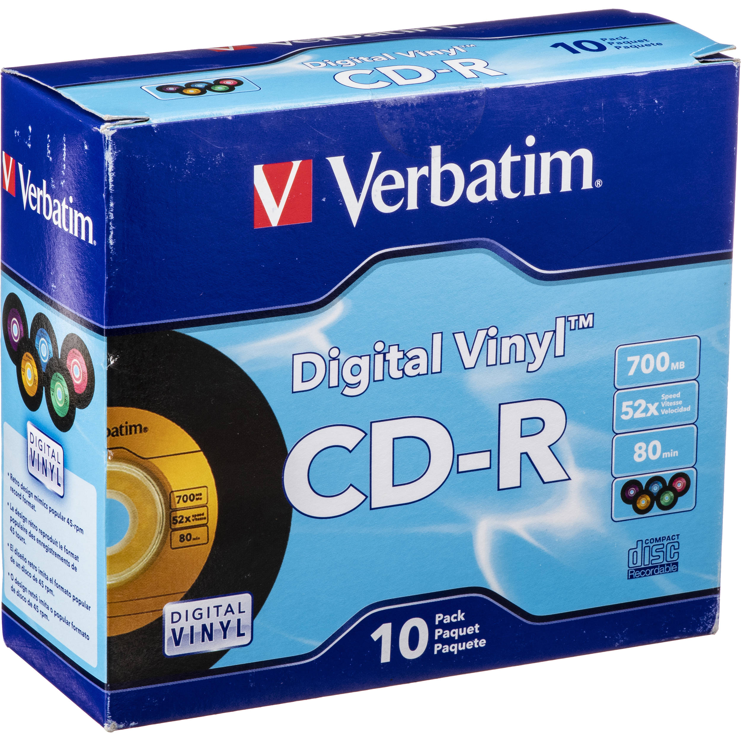 Verbatim Cd R Digital Vinyl Color Disc 10 94439 B Amp H