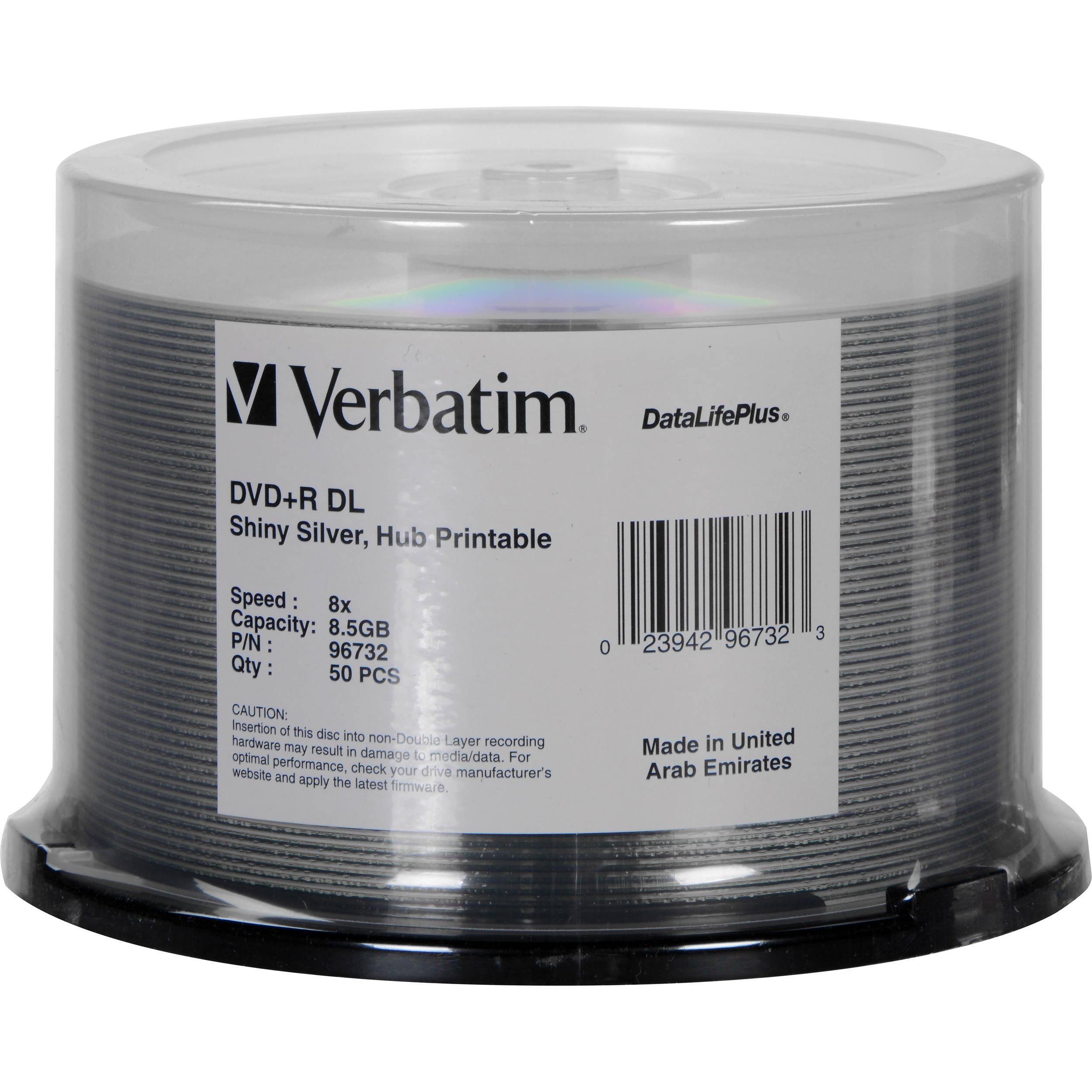 verbatim dvd r dl datalifeplus silver recordable disc. Black Bedroom Furniture Sets. Home Design Ideas