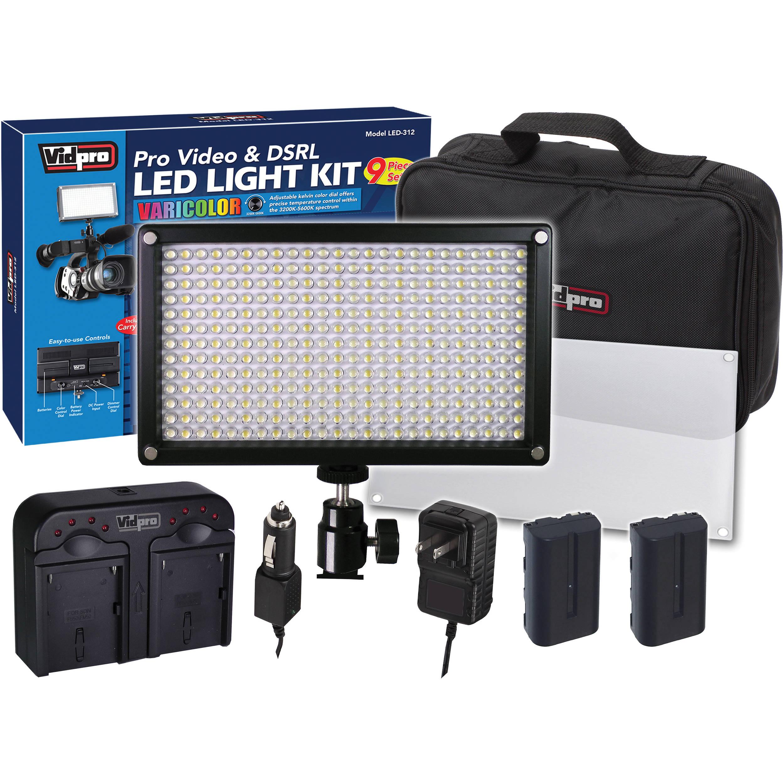 Vidpro Varicolor 312 Bulb Video And Photo Led Light Kit