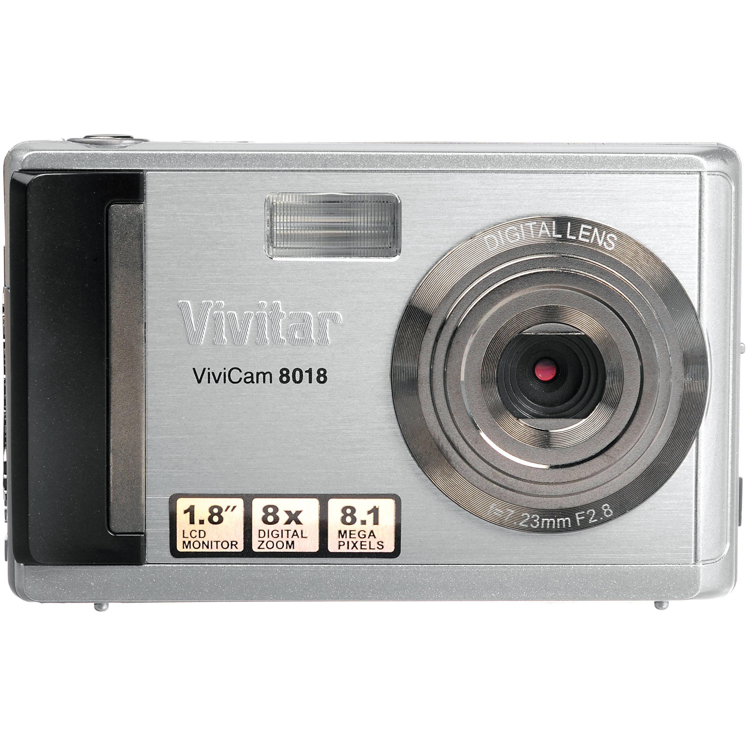 vivitar vivicam 8018 digital camera silver 8018 silver box b h rh bhphotovideo com Omni 2 Digital Camera Manual Sony Digital Camera Manual