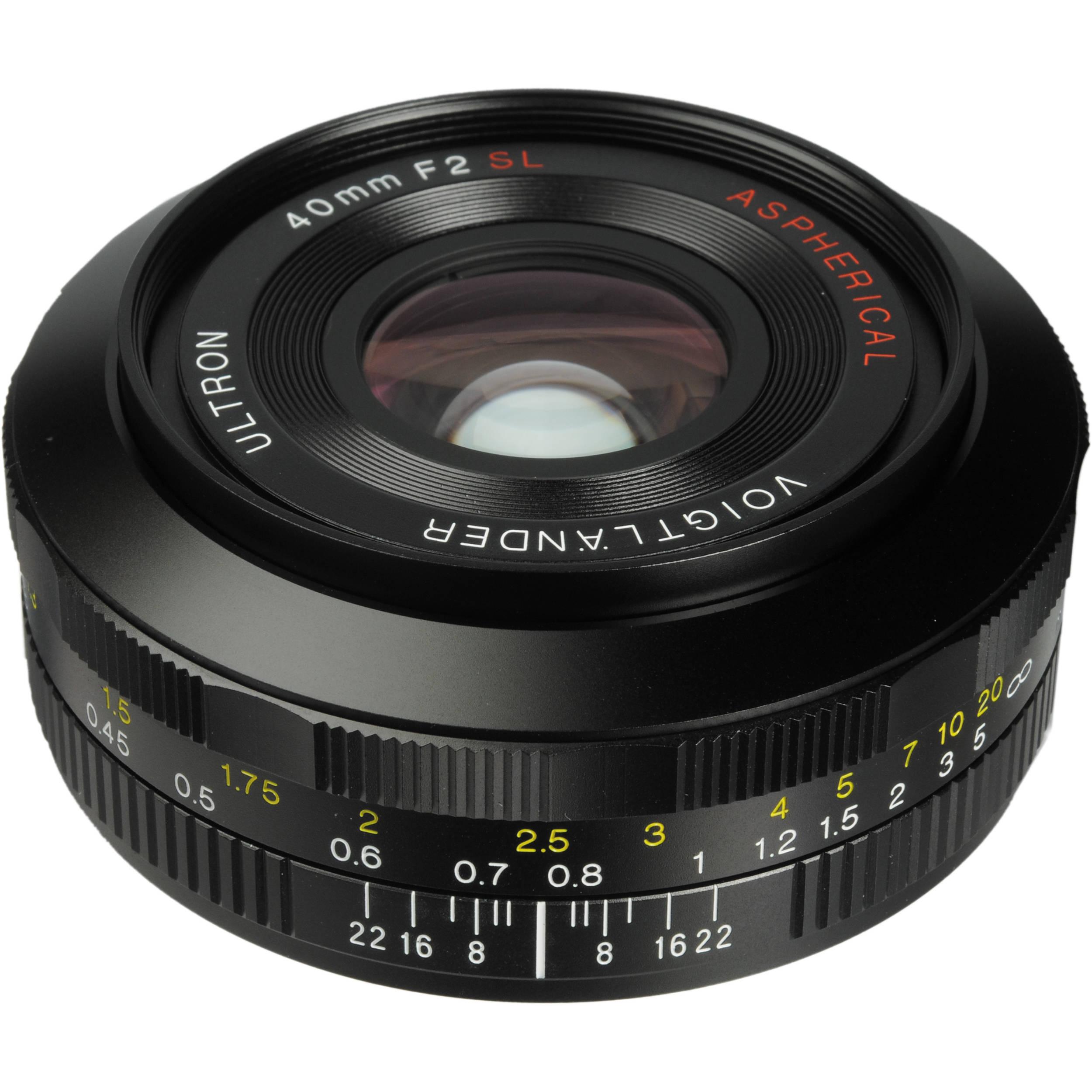 Voigtlander 40mm F 2 0 Ultron Sl Ii Aspherical Lens Ba229e B Amp H