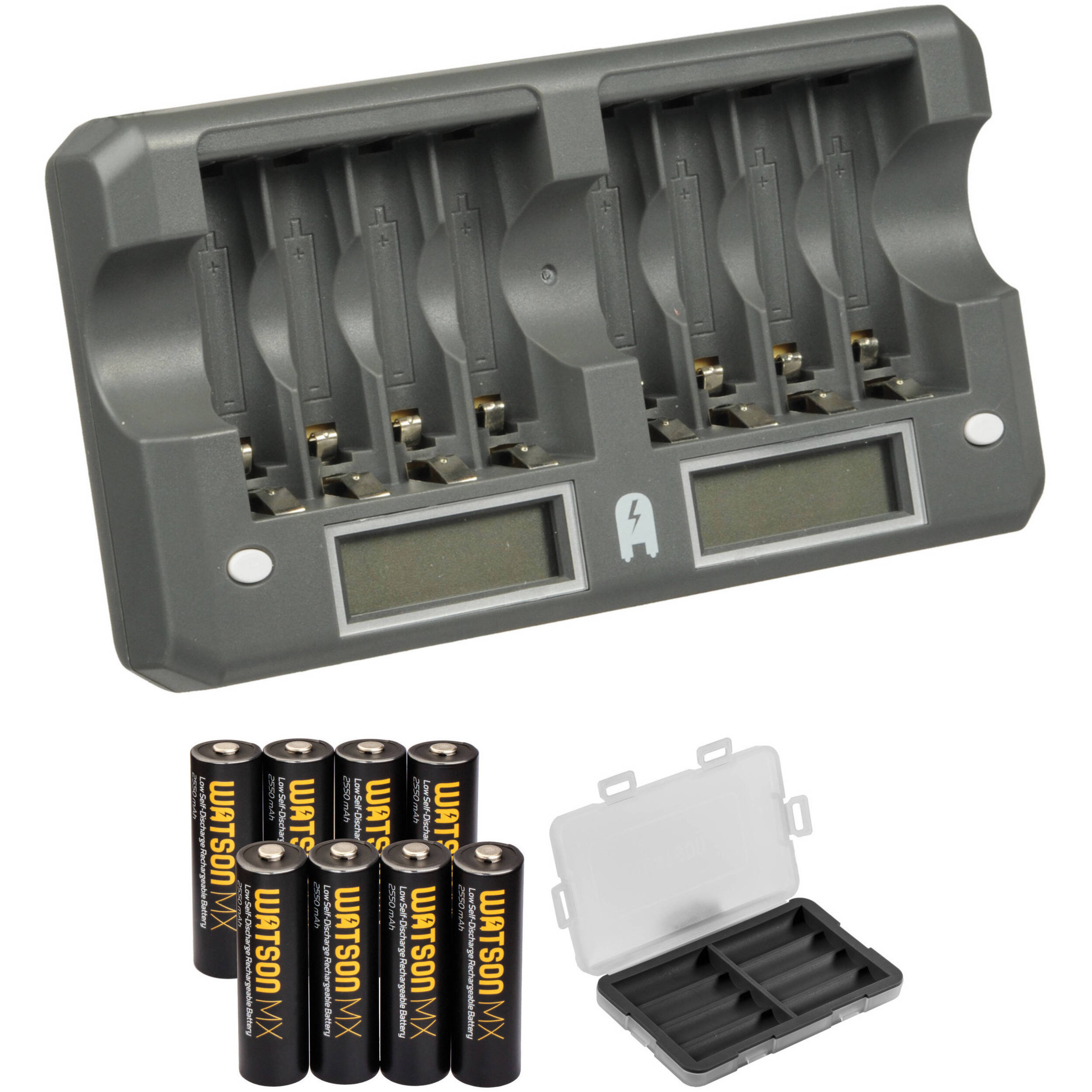 Watson 8 Bay Rapid Charger Kit With Aa Mx Nimh 8lcd Aak Bh Simplechargercircuitchargesupto12nicdcellsjpg Rechargeable Batteries 2550mah