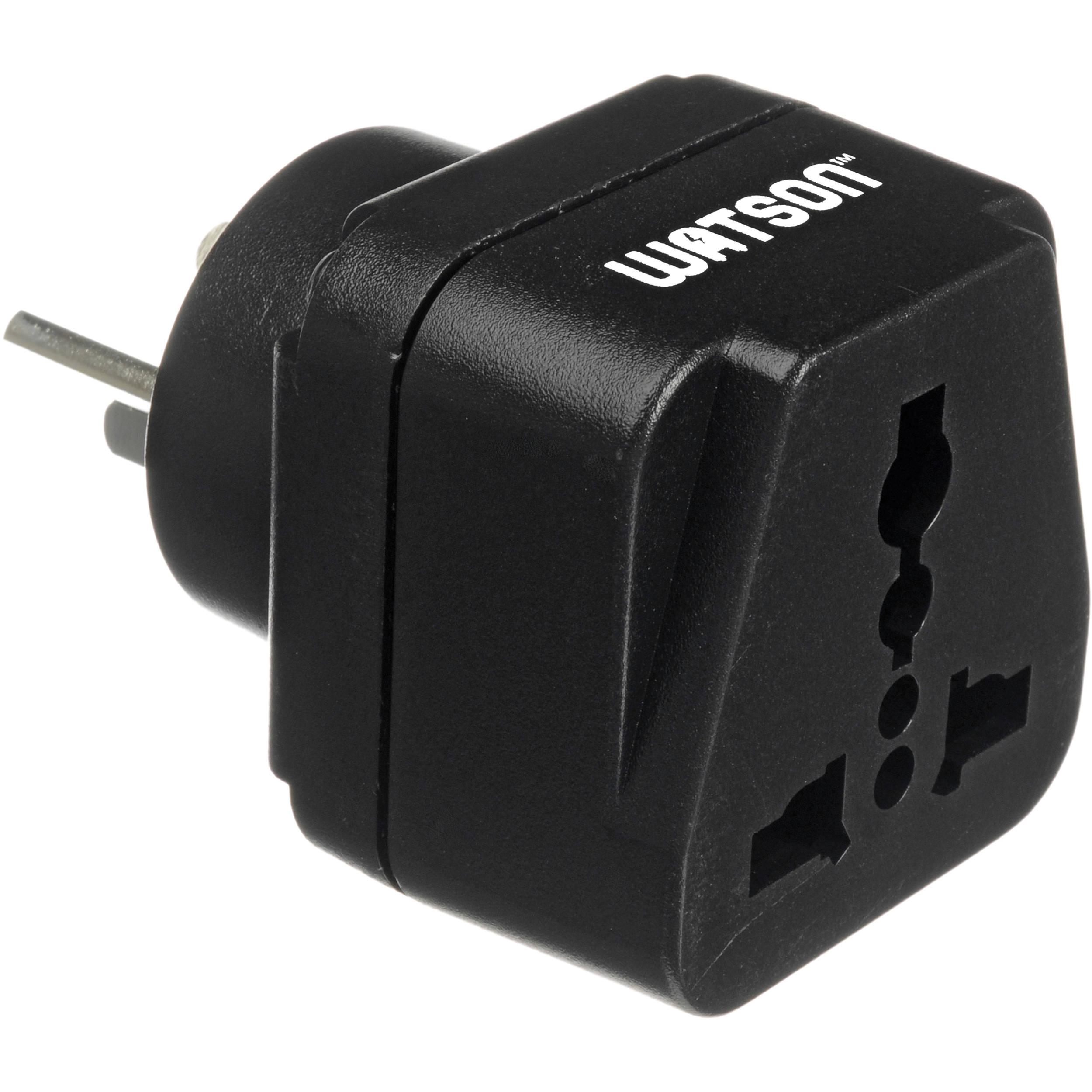 watson adapter plug 3 prong usa to 3 prong israel apg usa ie. Black Bedroom Furniture Sets. Home Design Ideas