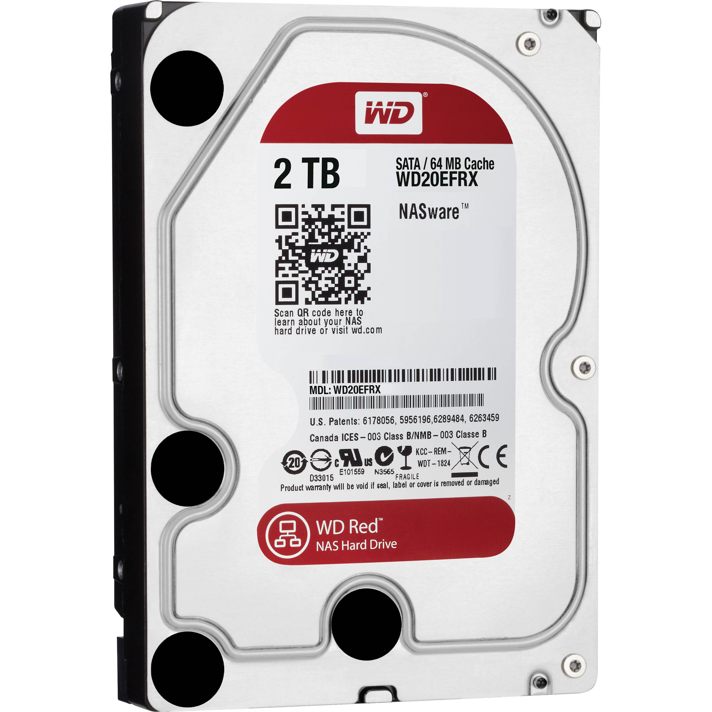 wd 2tb red 5400 rpm sata iii 3 5 internal nas hdd wd20efrx. Black Bedroom Furniture Sets. Home Design Ideas