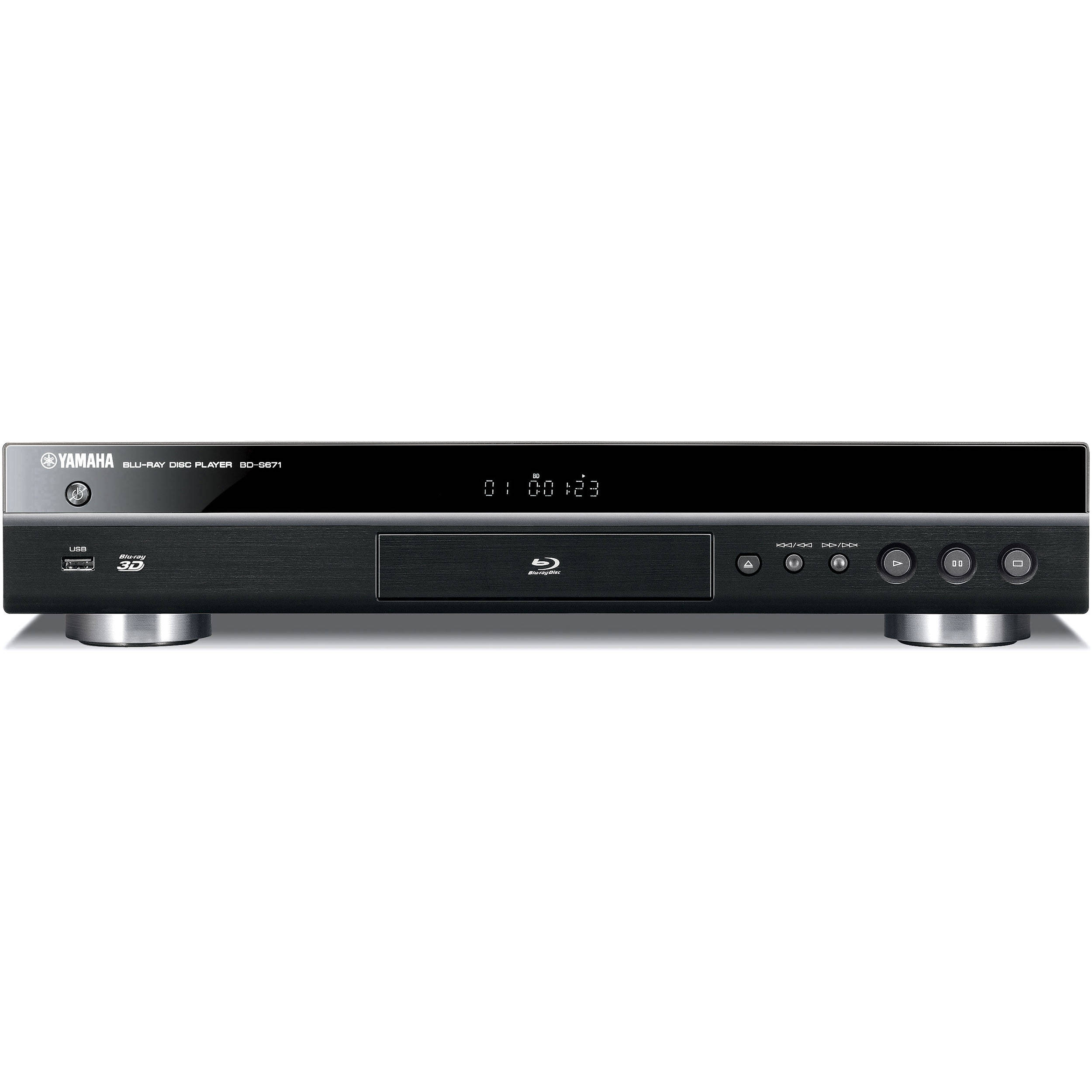 yamaha bd s671 blu ray disc player black bd s671bl b h photo. Black Bedroom Furniture Sets. Home Design Ideas