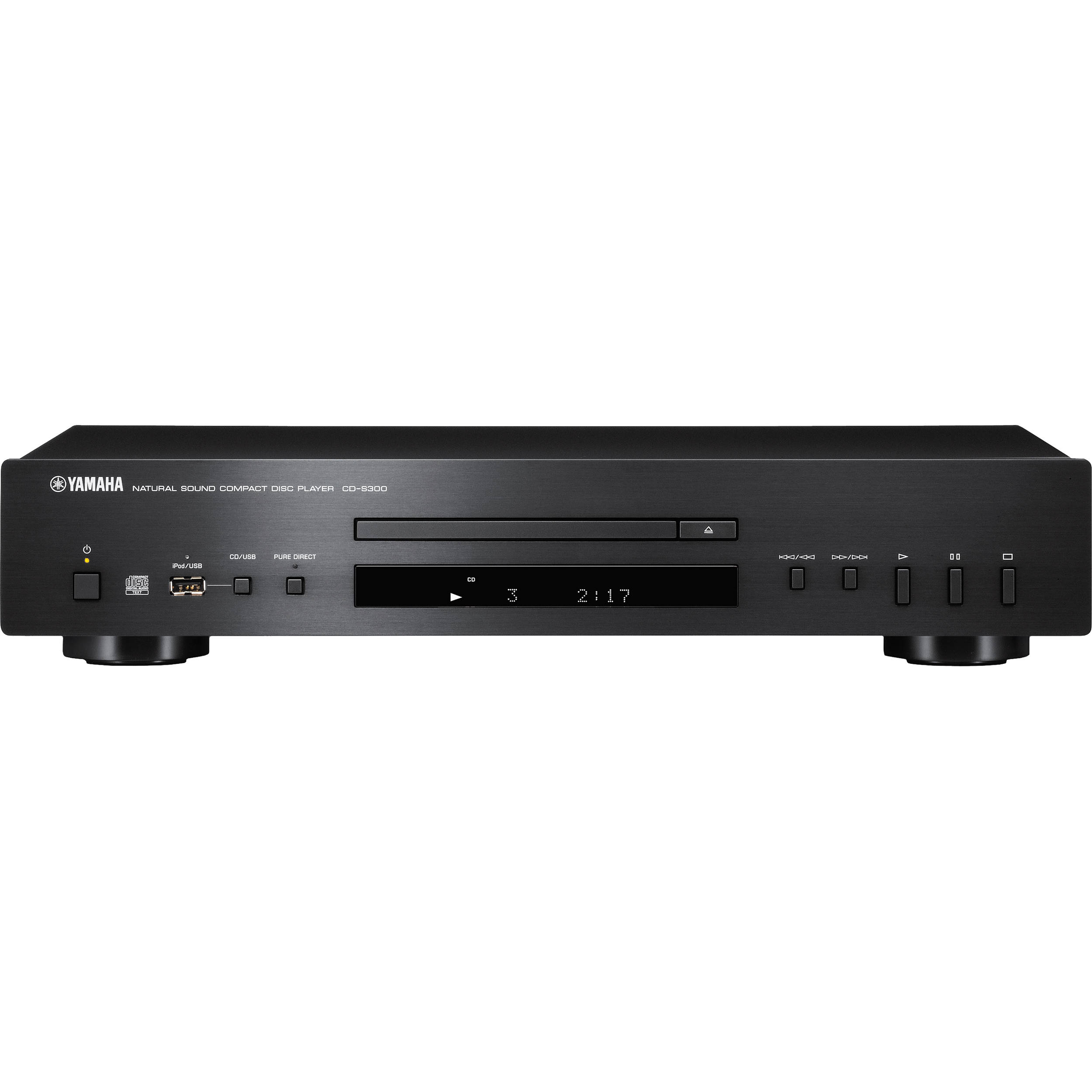 Yamaha cd s300bl compact disc player black cd s300bl b h for Yamaha audio customer service
