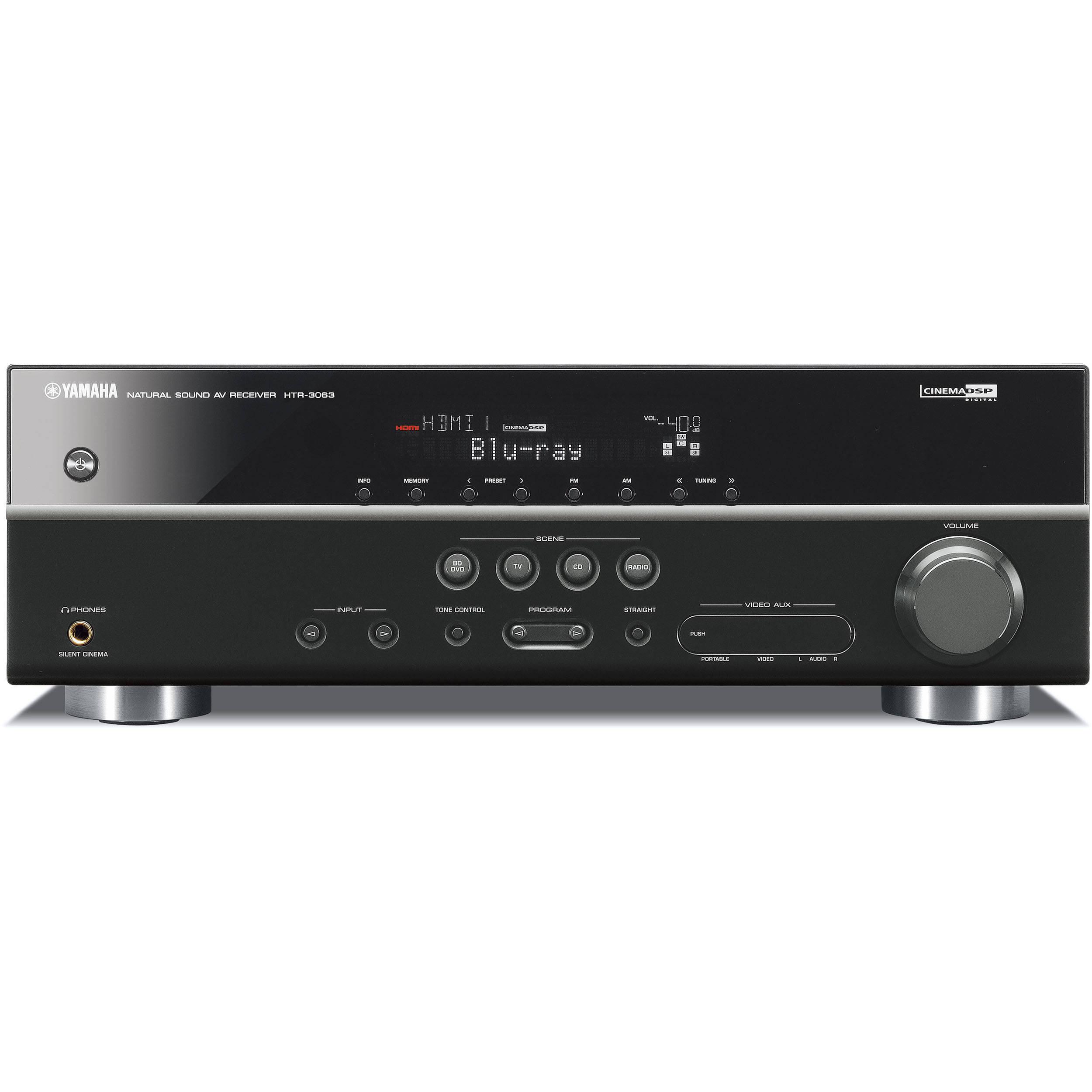 Yamaha htr 3063 5 1 channel home theater receiver htr for Yamaha warranty registration