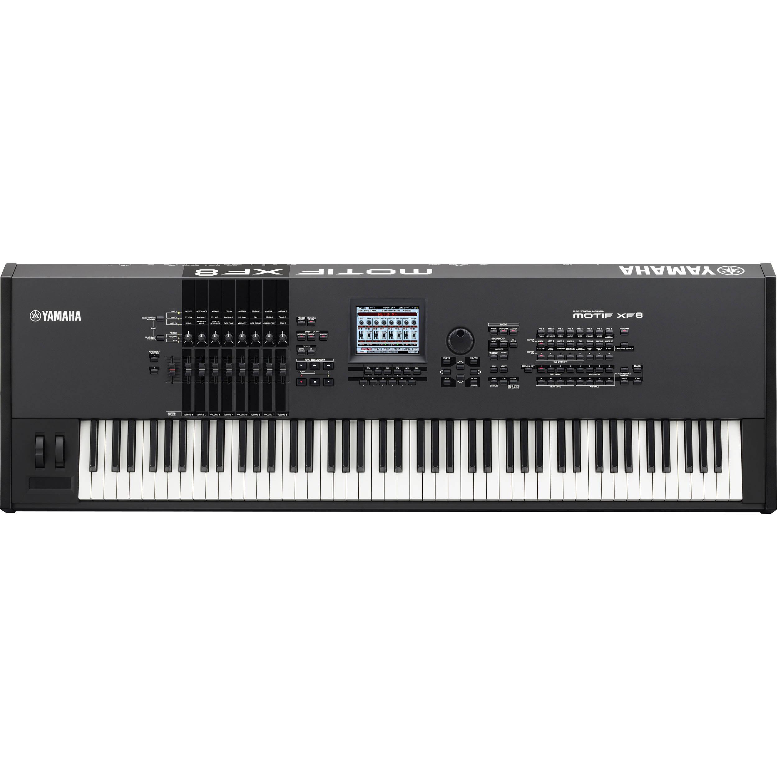 Yamaha motif xf8 workstation keyboard motifxf8 b h photo video for Yamaha motif keyboard