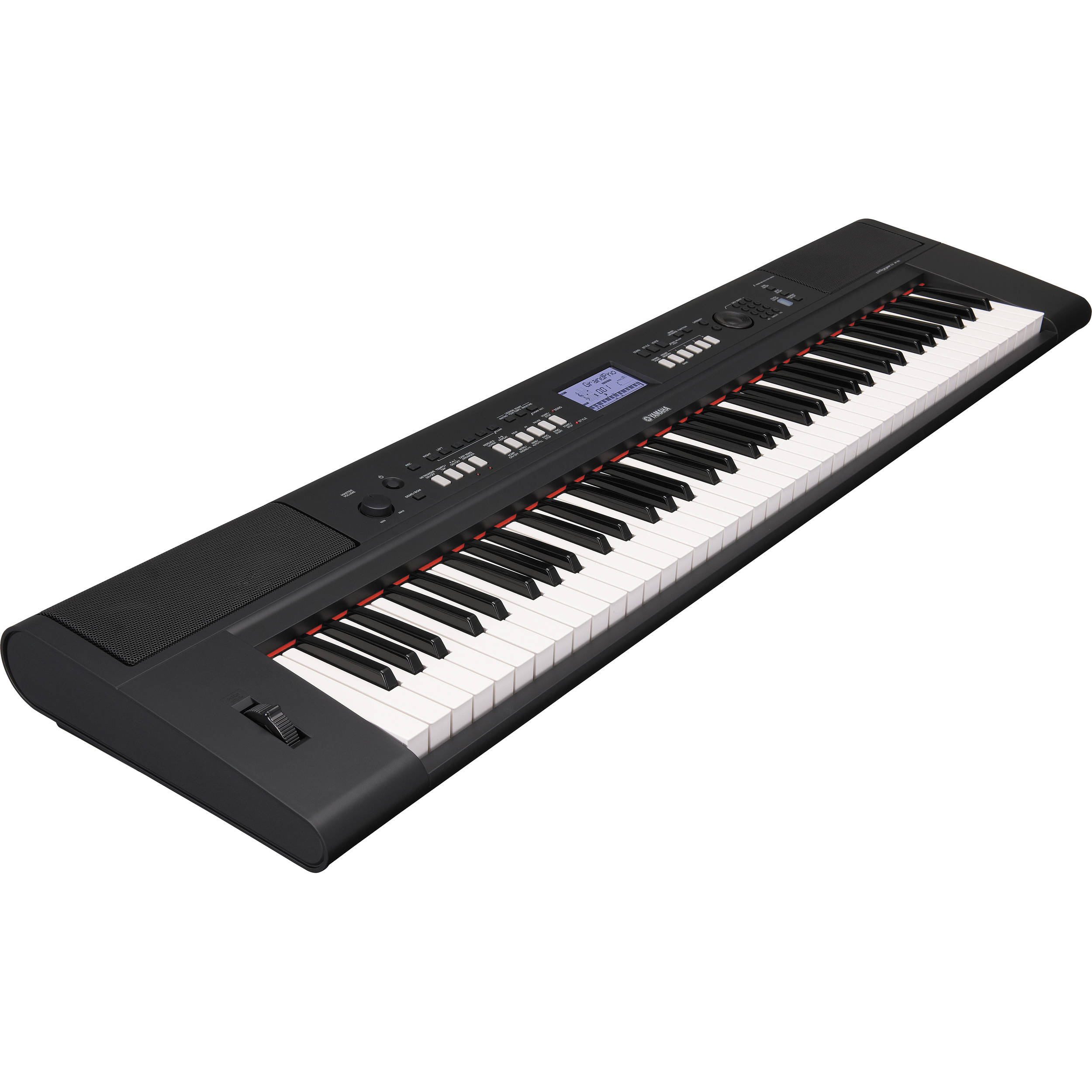 Yamaha piaggero np v60 lightweight digital piano npv60 b h for Yamaha piano com