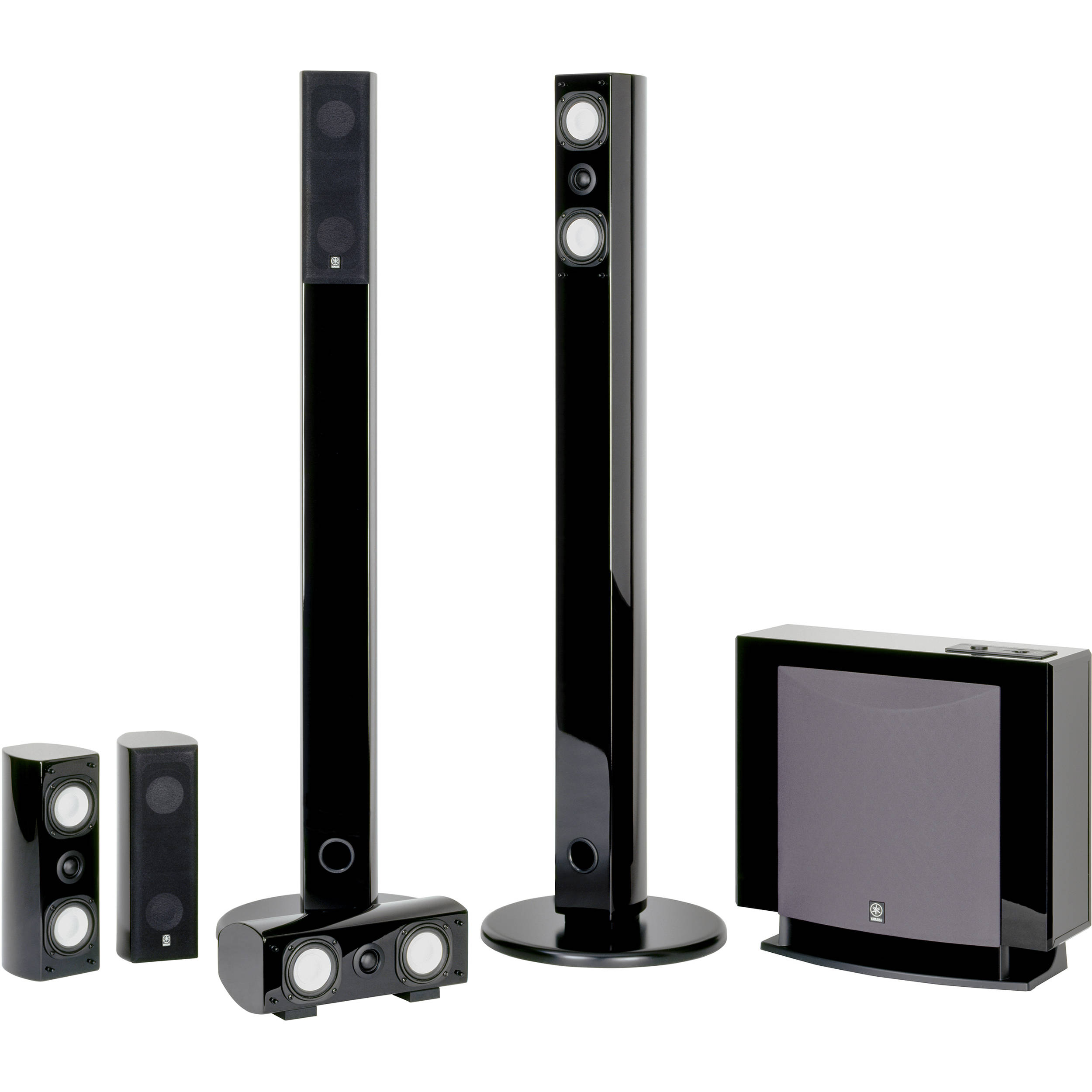 Yamaha ns sp7800pn 5 1 channel home theater speaker system black