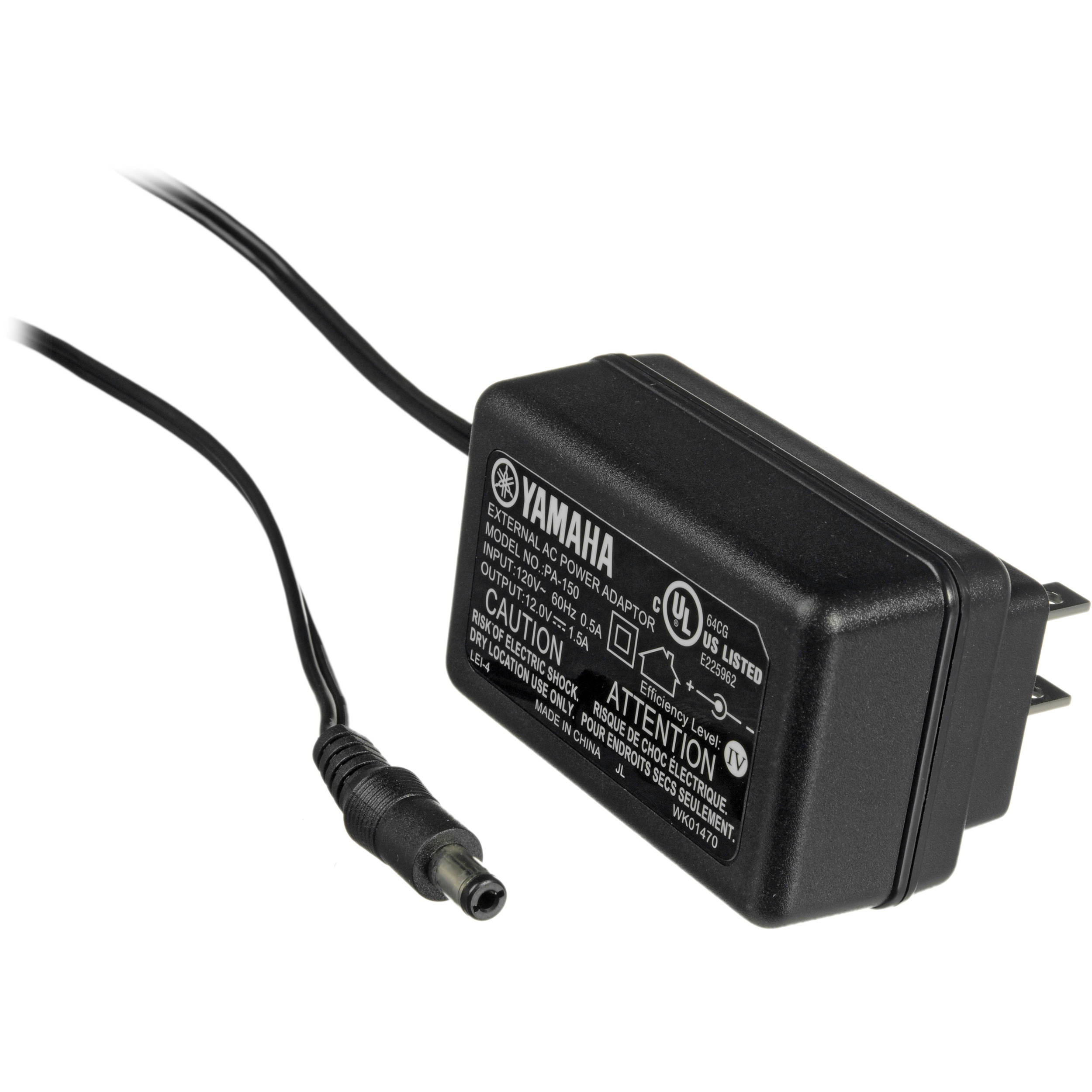 yamaha pa150 ac adapter for keyboards and drums pa150 b h photo. Black Bedroom Furniture Sets. Home Design Ideas