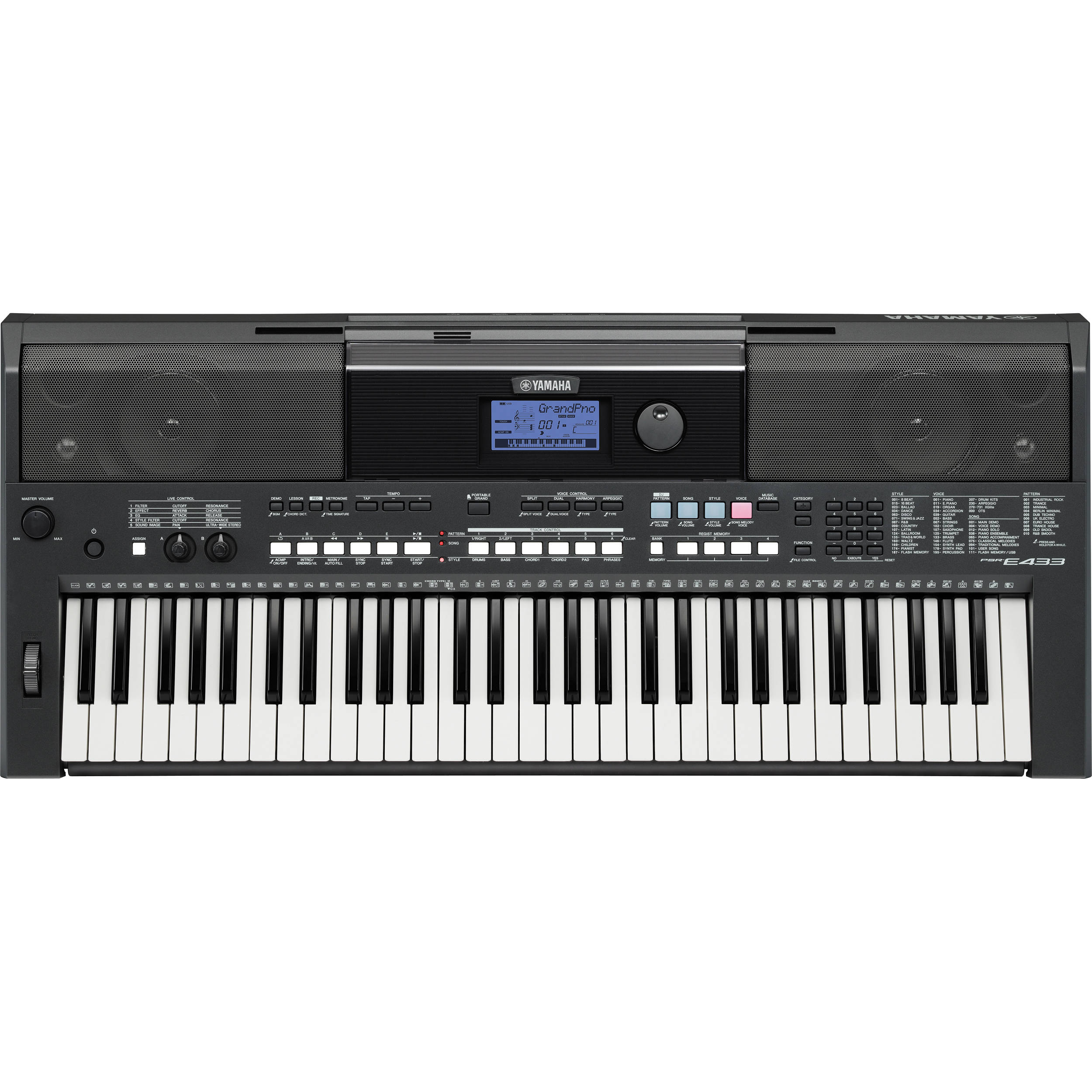 Yamaha PSR-E433 61-Key Portable Keyboard PSRE433 B&H Photo Video