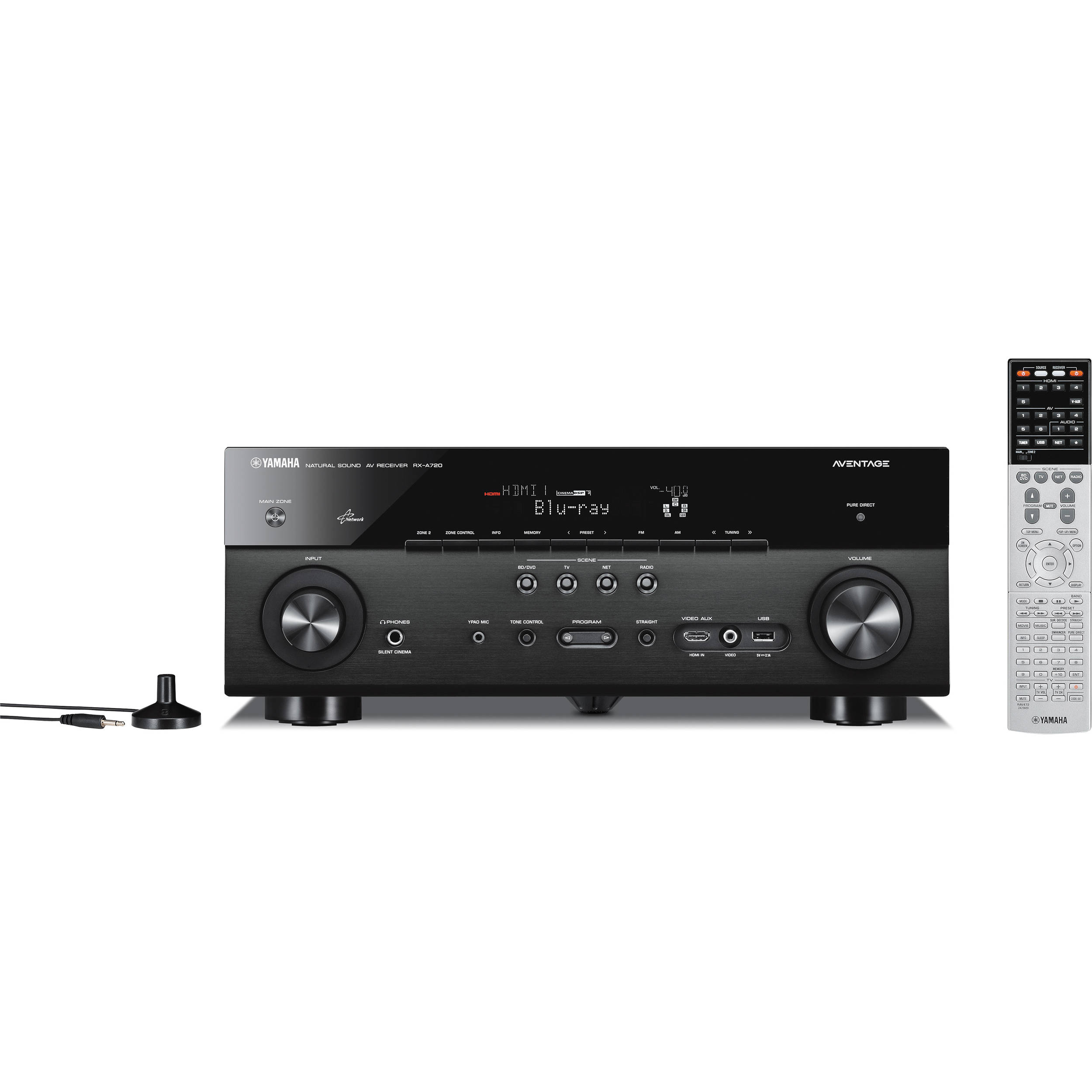 Yamaha rx a720bl a v receiver rx a720bl b h photo video for Yamaha tv receiver