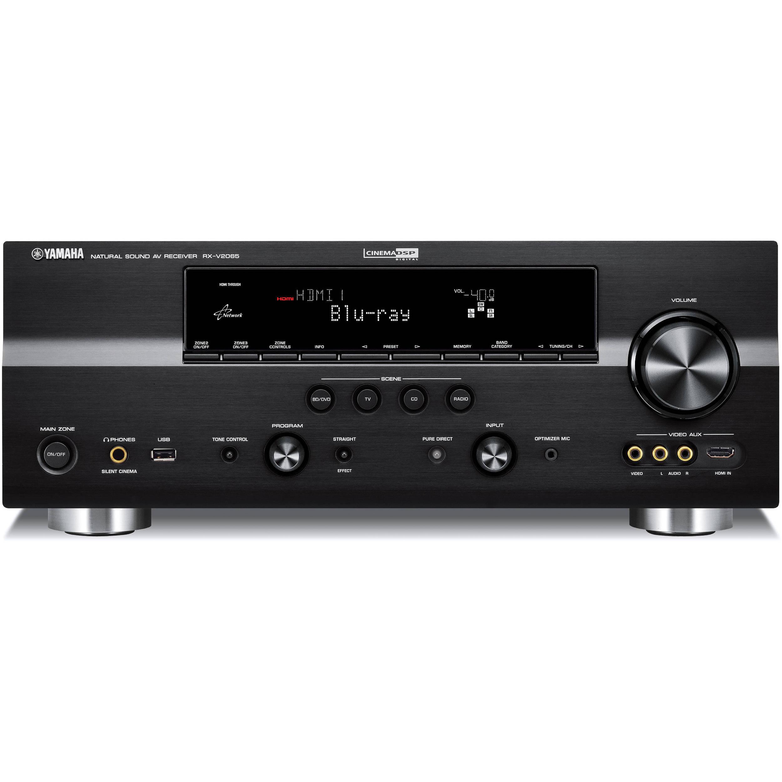Yamaha rx v2065bl 7 2 channel network digital home rx v2065bl for Yamaha 7 2 receiver reviews