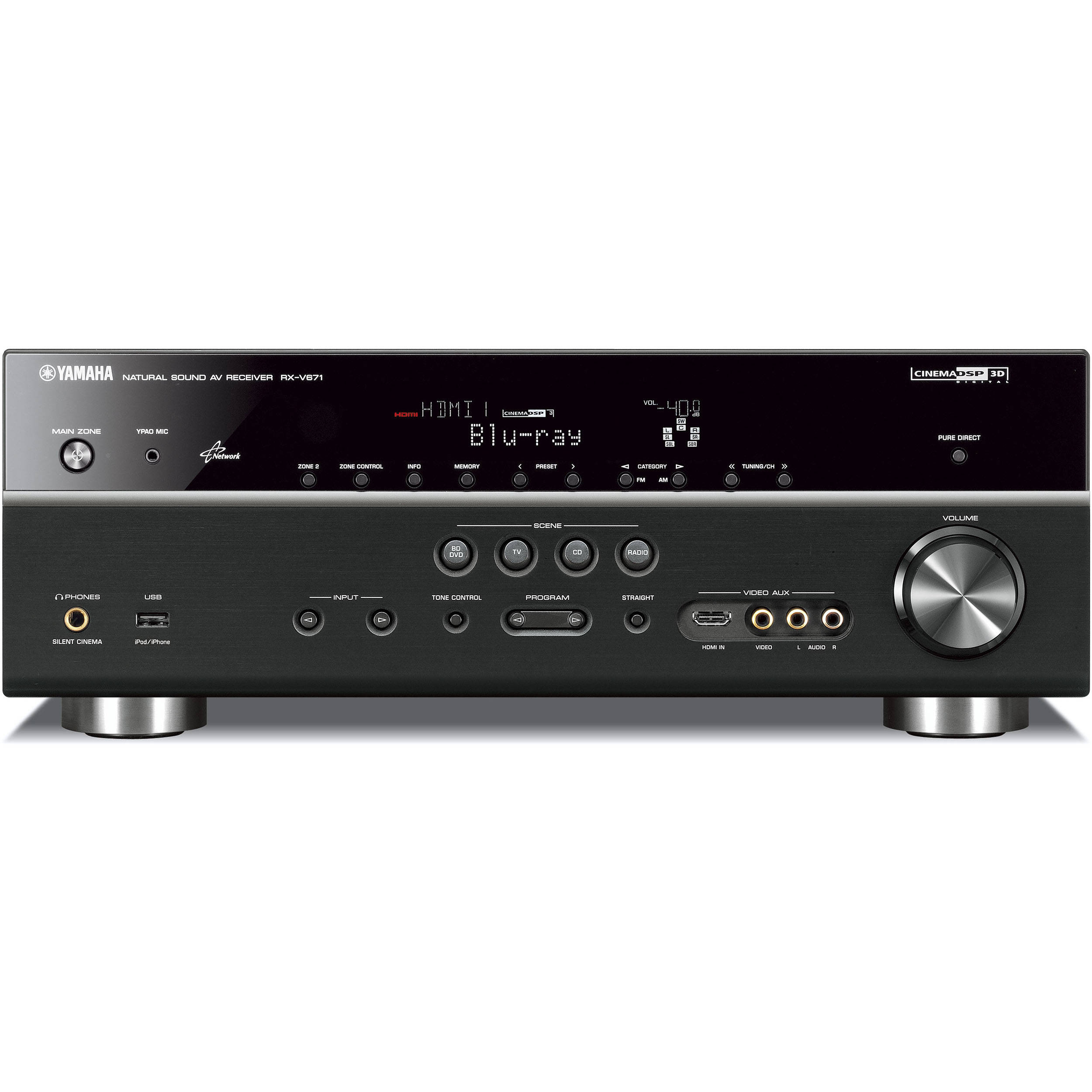 yamaha rx v671 7 1 channel home theater receiver rx. Black Bedroom Furniture Sets. Home Design Ideas