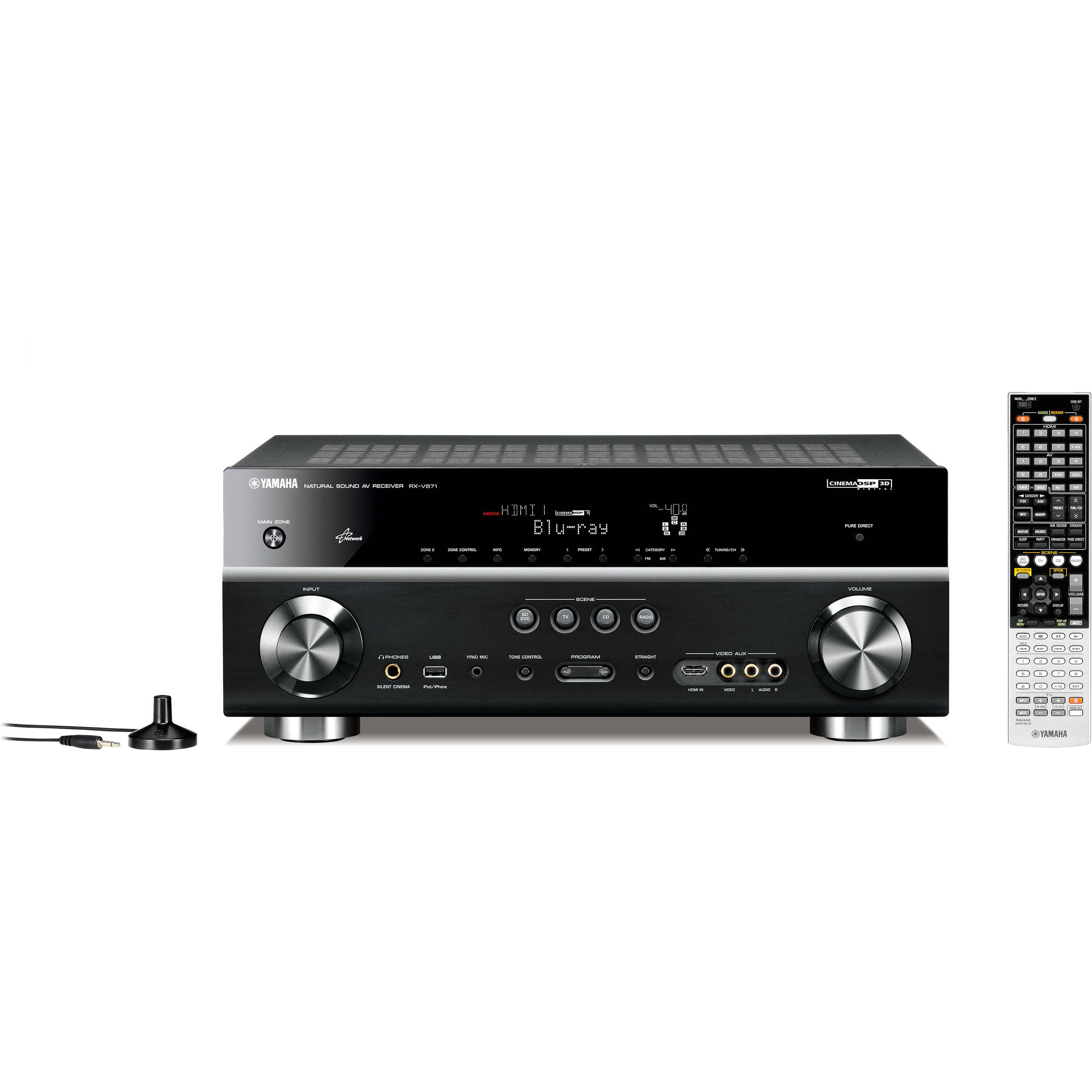 Yamaha rx v871 7 2 channel home theater receiver rx for Yamaha home theater amplifier