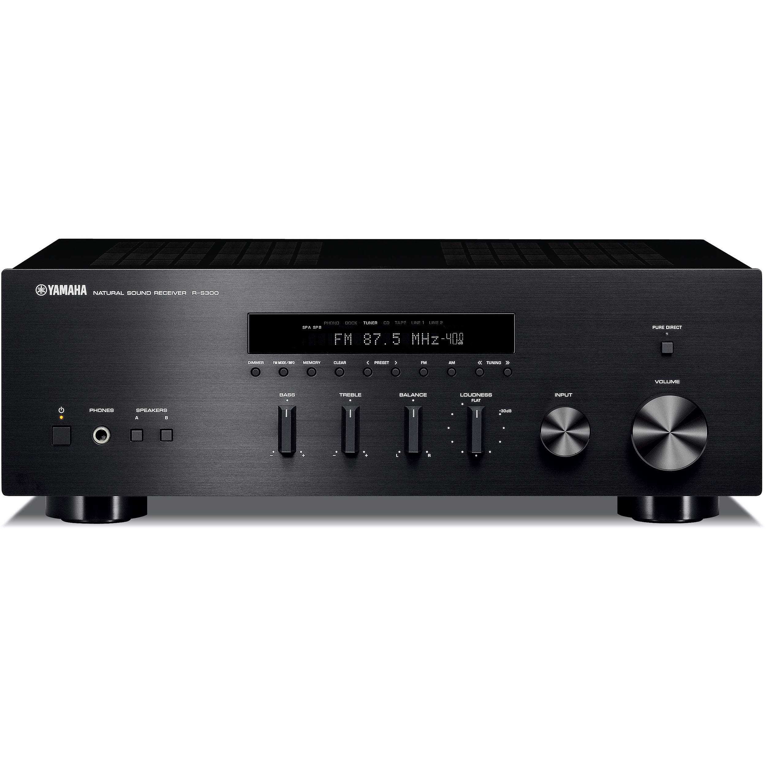 yamaha r s300 natural sound stereo receiver r s300bl b h photo. Black Bedroom Furniture Sets. Home Design Ideas