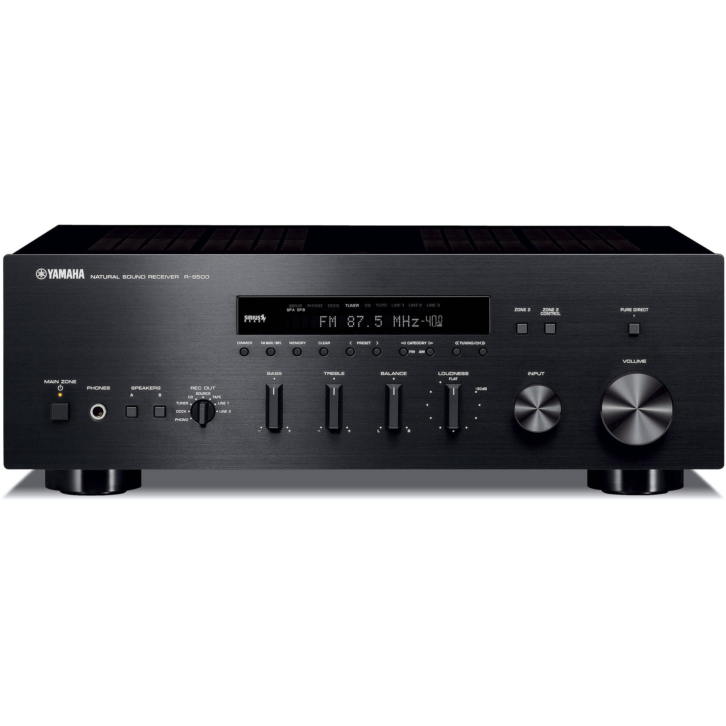 yamaha r s500 natural sound stereo receiver r s500bl b h photo. Black Bedroom Furniture Sets. Home Design Ideas