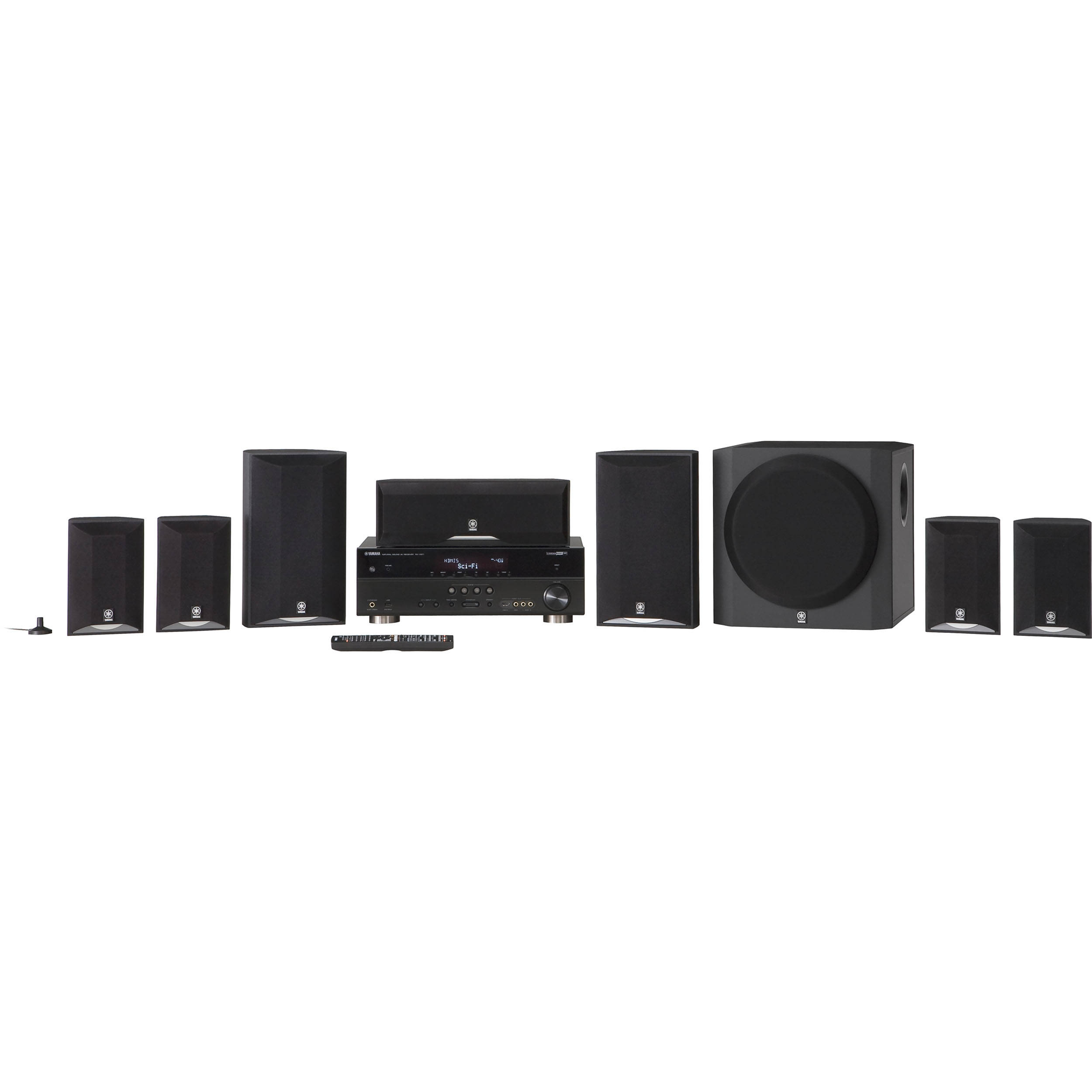 yamaha yht 895 7 1 channel home theater in a box yht 895bl b h. Black Bedroom Furniture Sets. Home Design Ideas