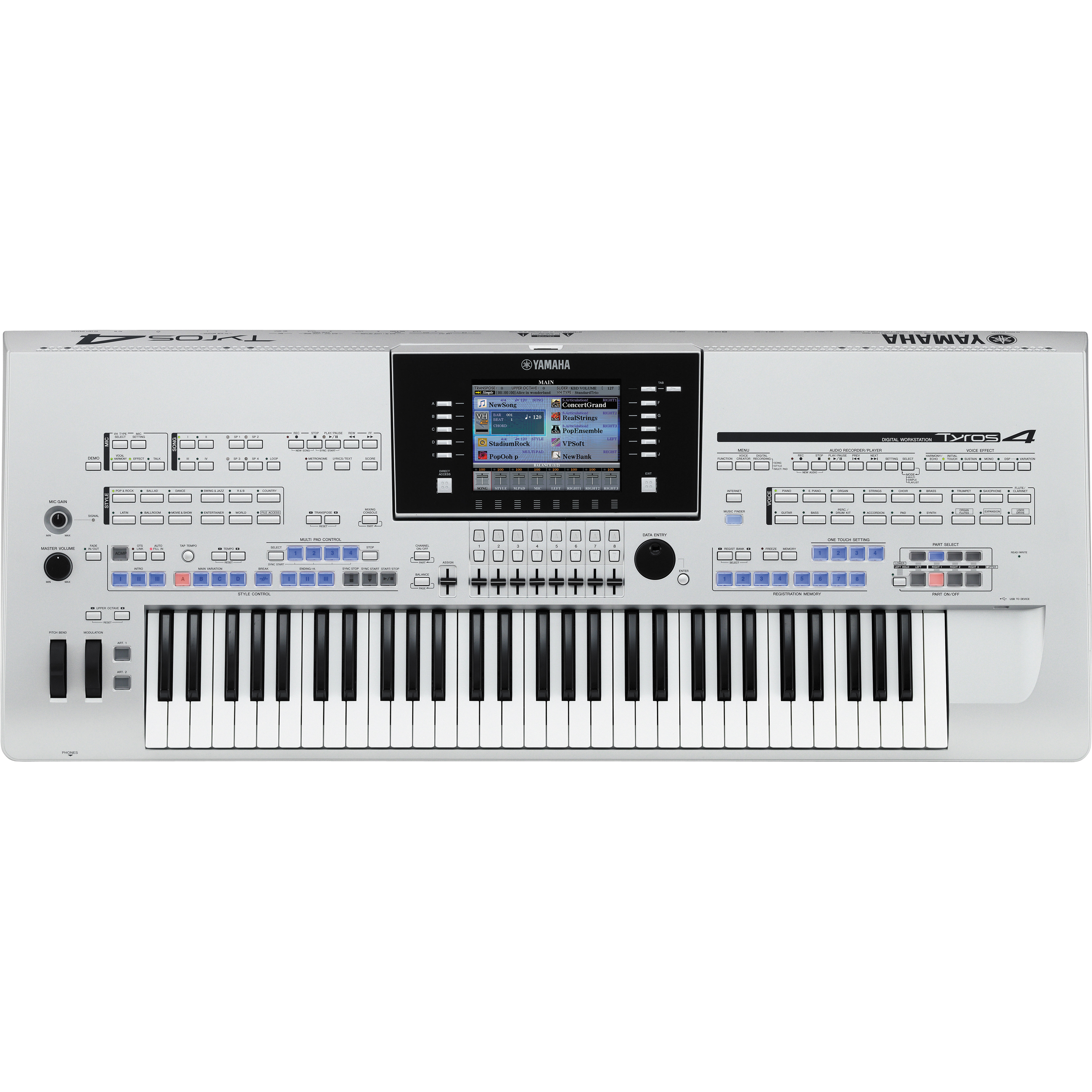 yamaha tyros4 61 key arranger workstation keyboard