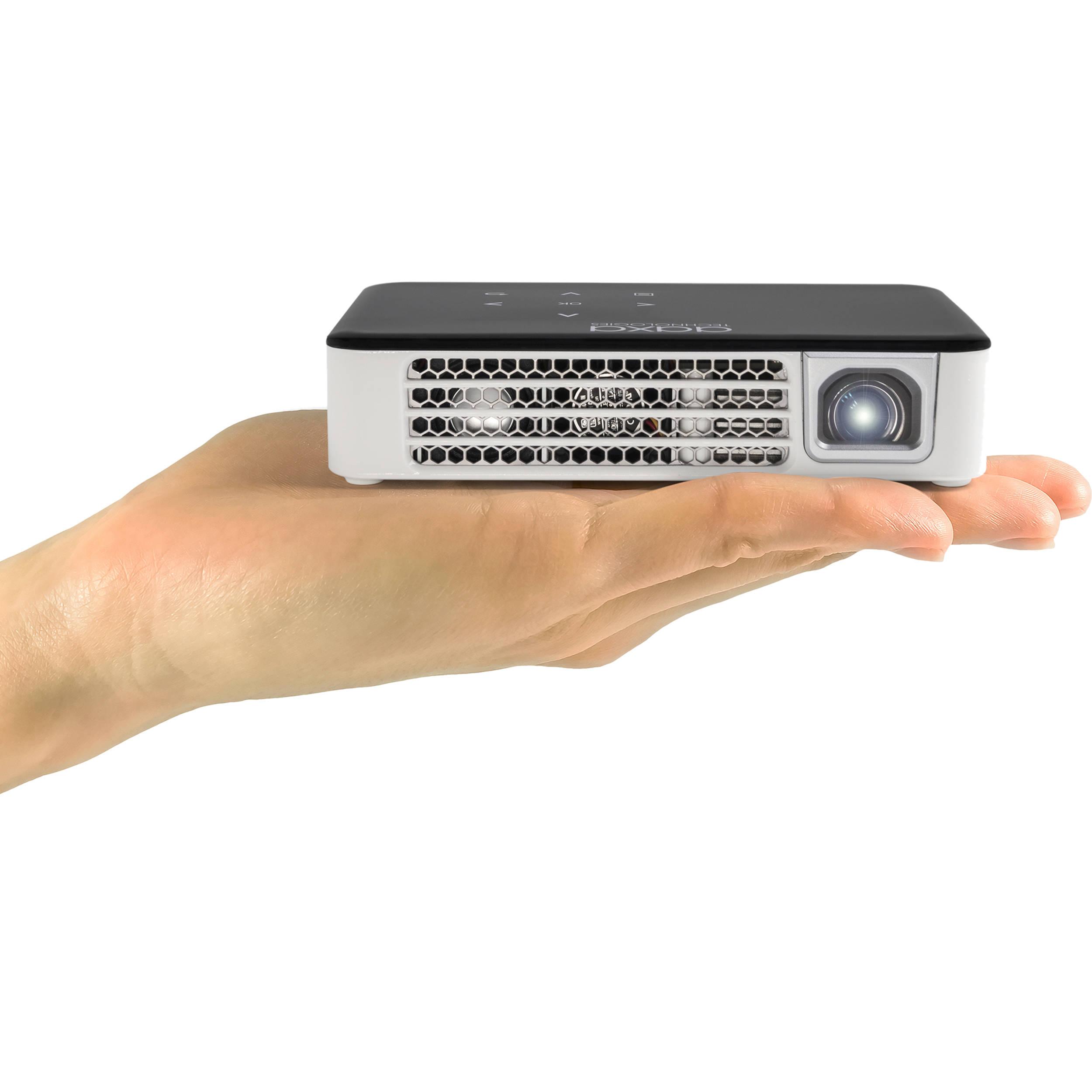 Aaxa technologies p300 neo 420 lumen hd dlp pico kp 602 01 b h for Hd pico projector