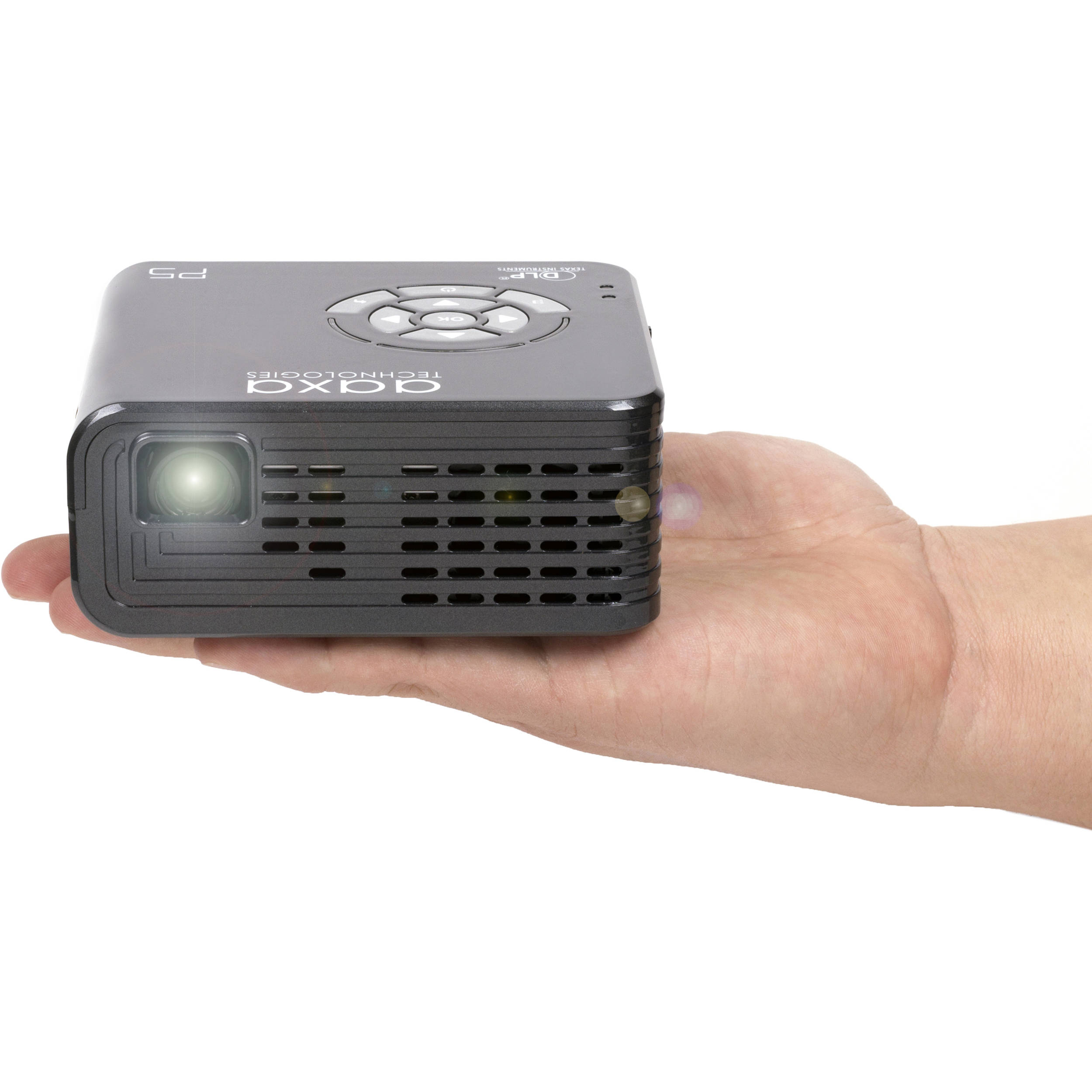 Aaxa technologies p5 300 lumen hd pico projector kp 800 01 b h for Used pocket projector