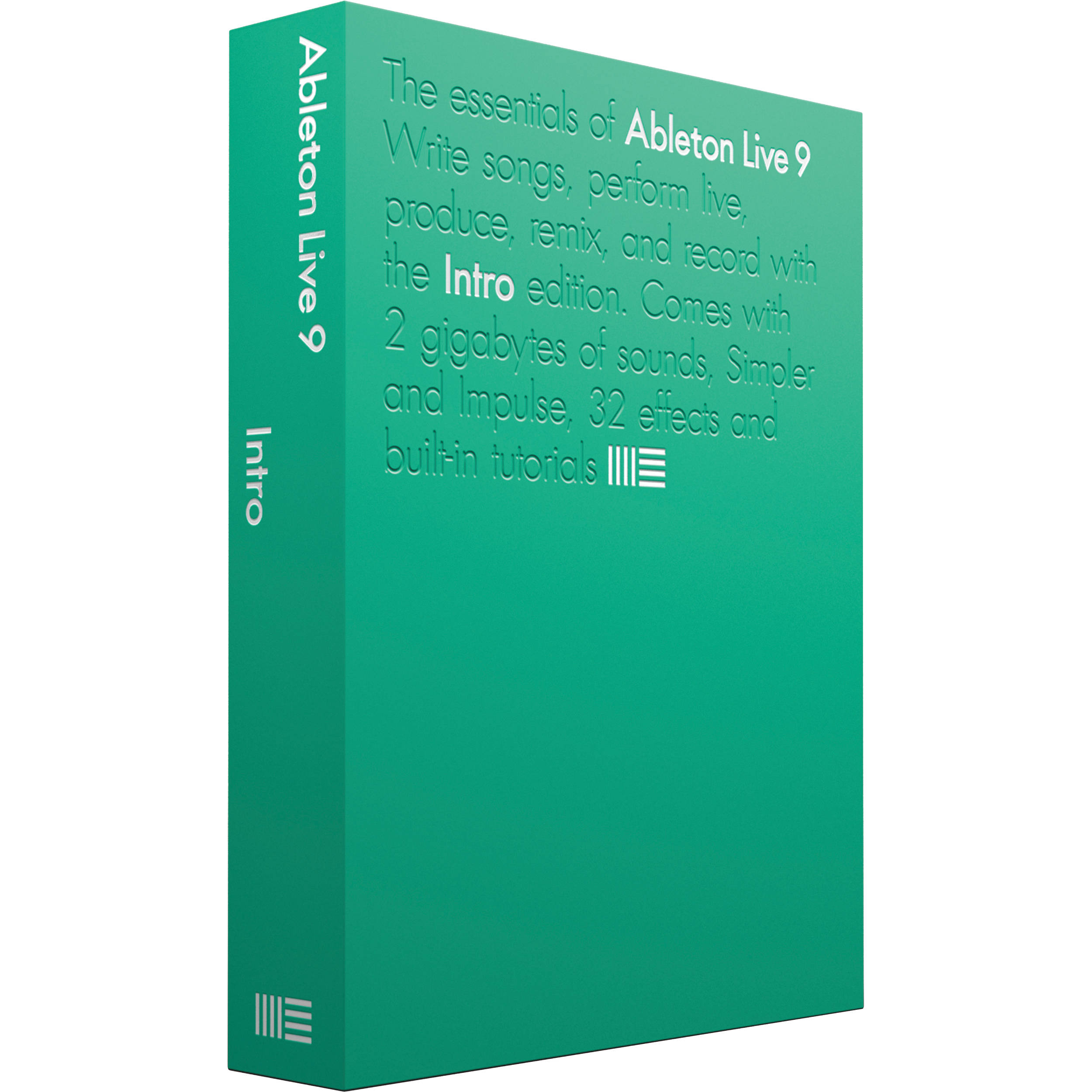 ableton live 9 intro music production software boxed 85726. Black Bedroom Furniture Sets. Home Design Ideas
