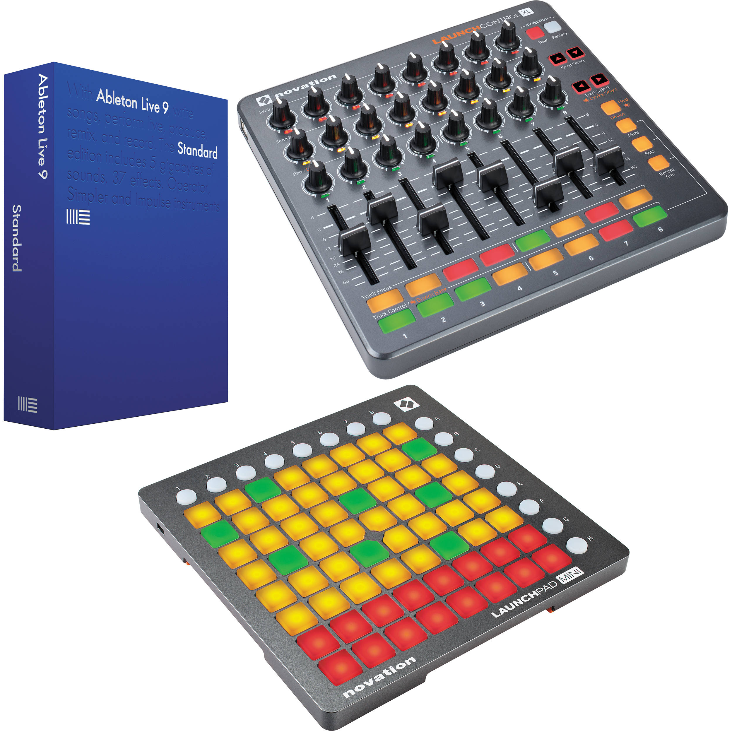 ableton live 9 standard with novation launch control xl and b h. Black Bedroom Furniture Sets. Home Design Ideas
