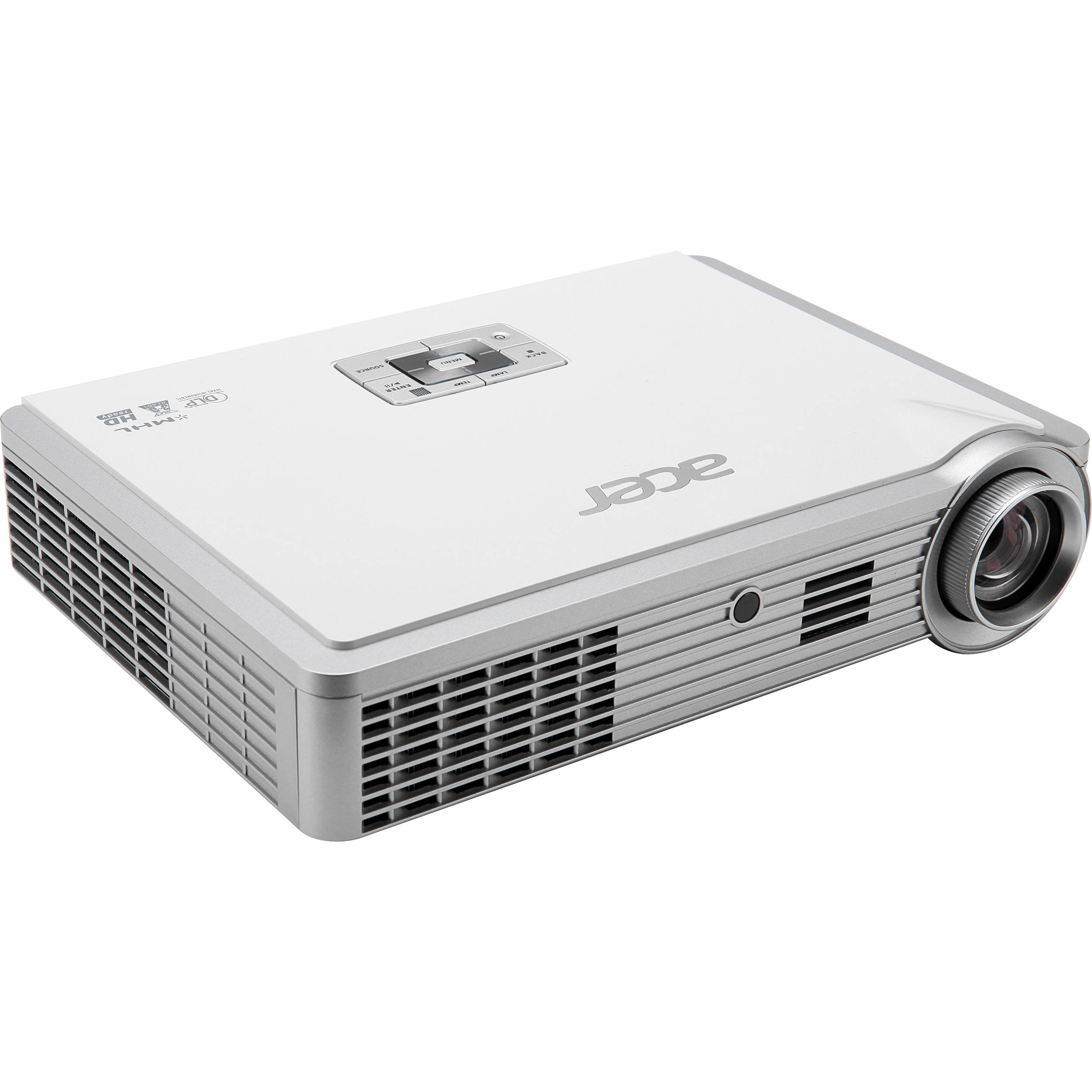 Acer k335 3d dlp portable projector white mr b h for Dlp portable projector