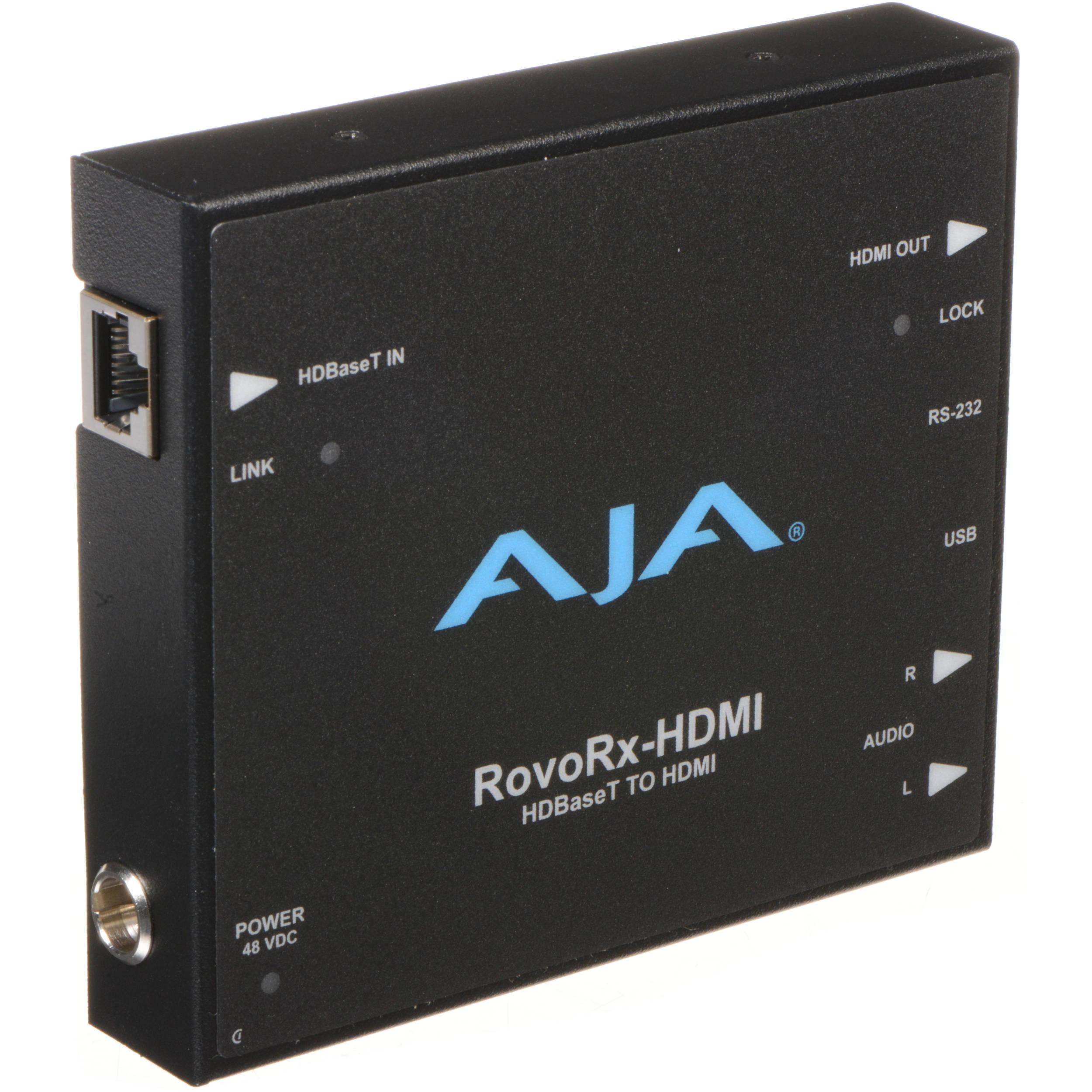 Aja Rovorx Hdmi Hdbaset To Receiver Bh Photo Rca Cable Tv Besides Vga Converter Diagram