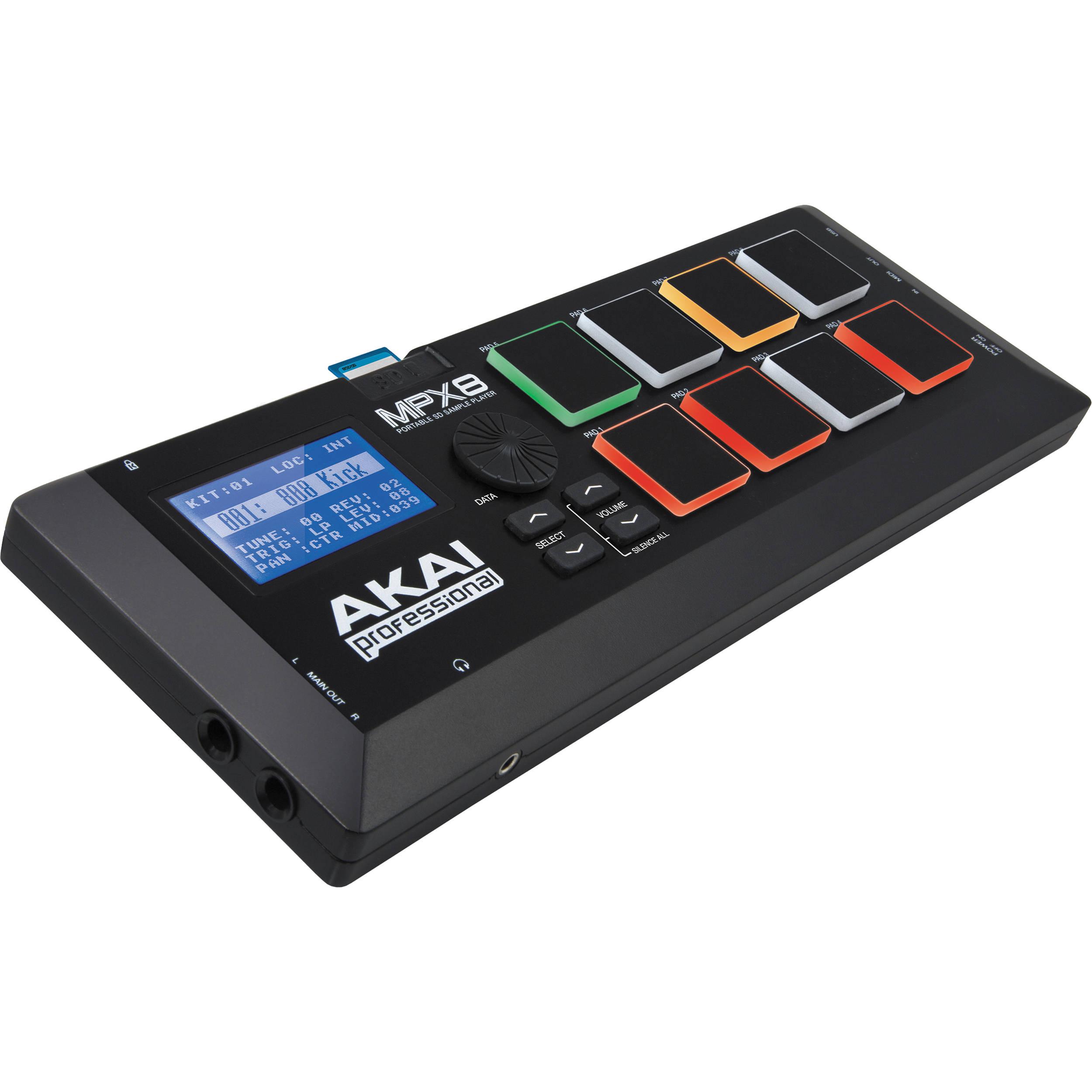 Akai Professional MPX8 SD Sample Pad Controller MPX8 B&H Photo