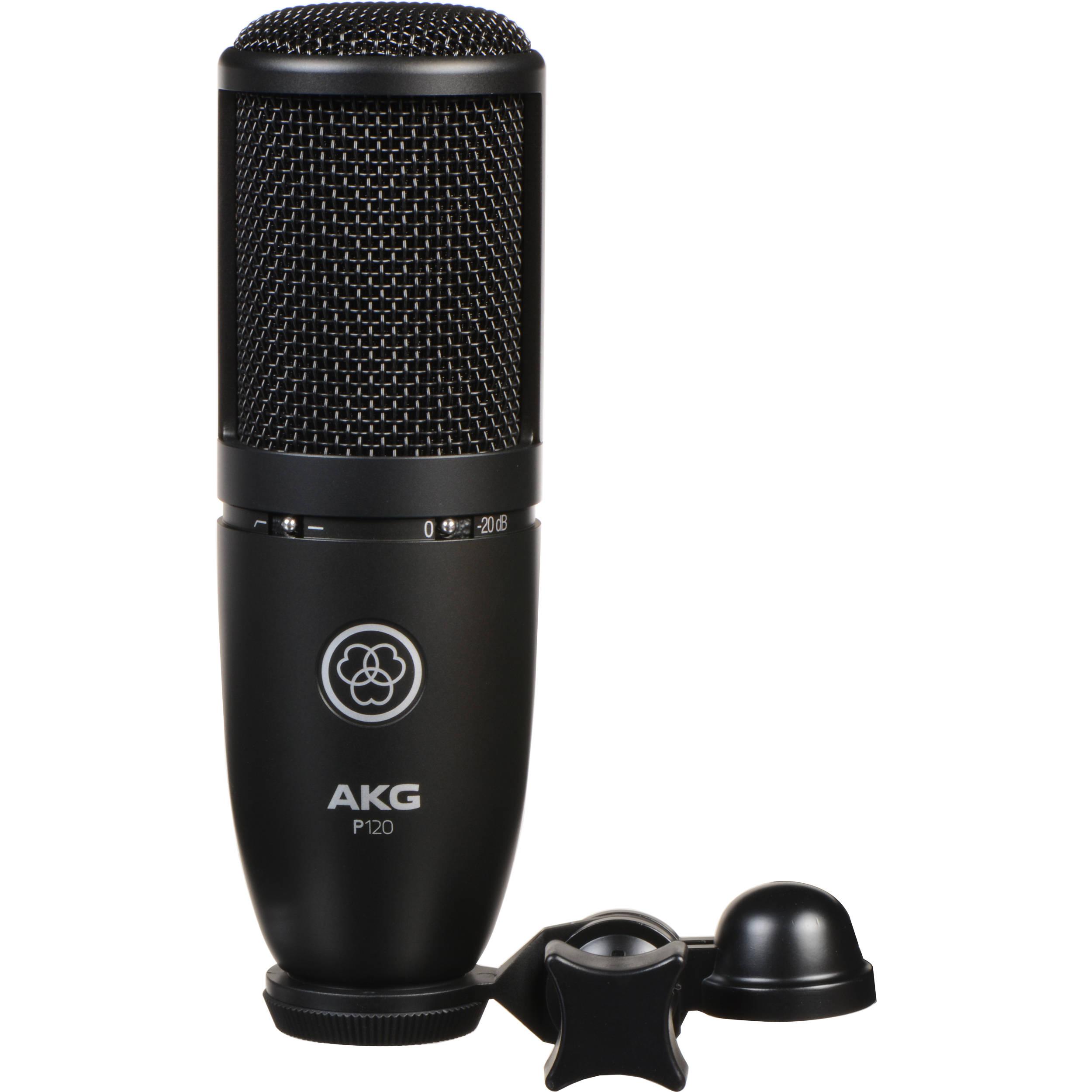 AKG P120 Cardioid Condenser Microphone (Black) 3101H00400 B&H