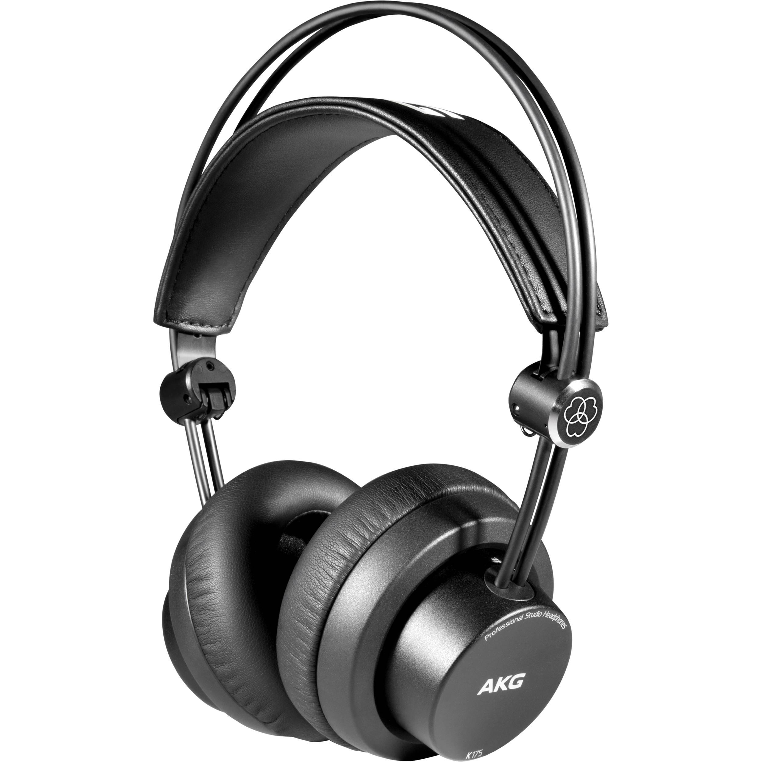 akg k175 on ear closed back headphones 3405h00010 b h photo. Black Bedroom Furniture Sets. Home Design Ideas