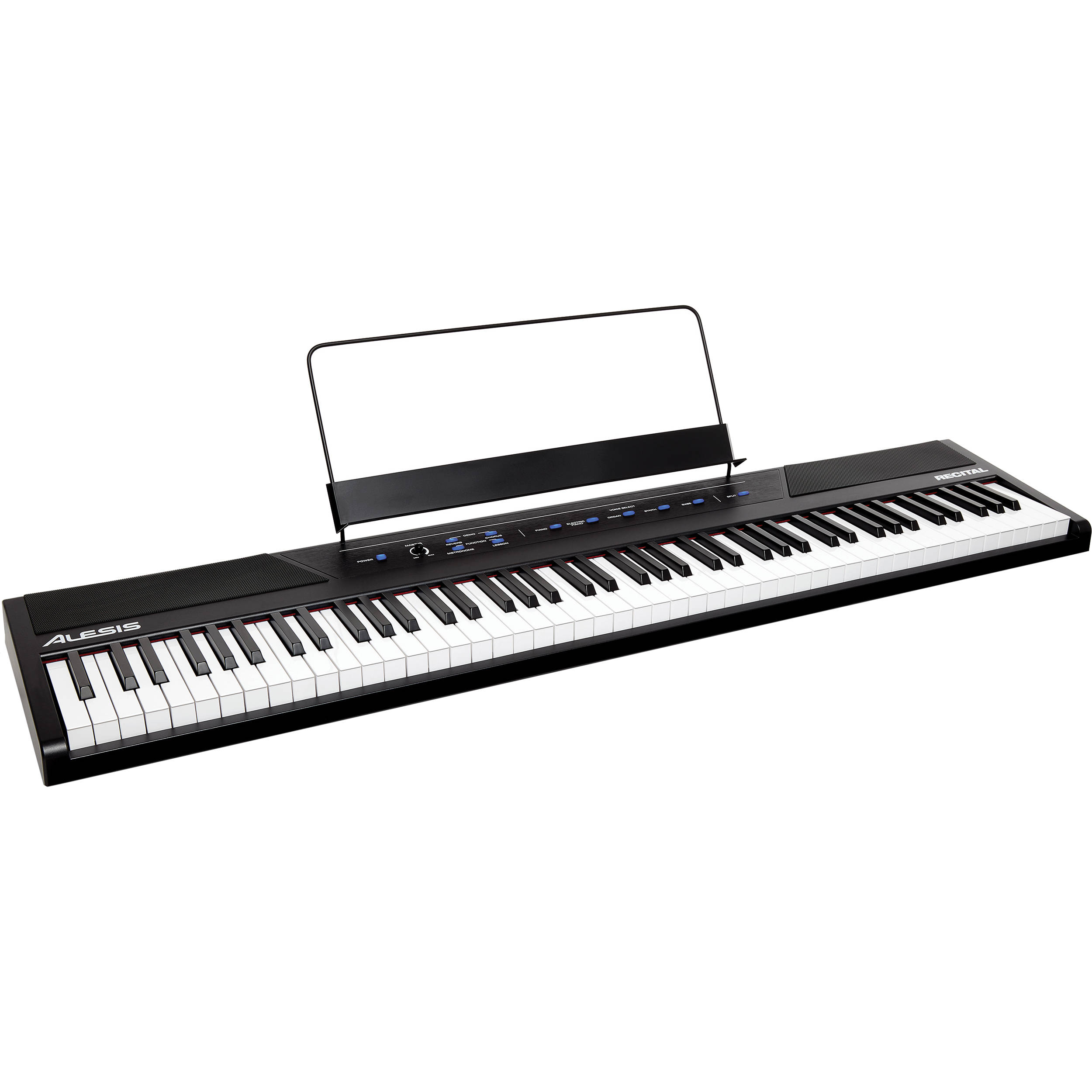 alesis recital 88 key digital piano with full sized keys recital. Black Bedroom Furniture Sets. Home Design Ideas