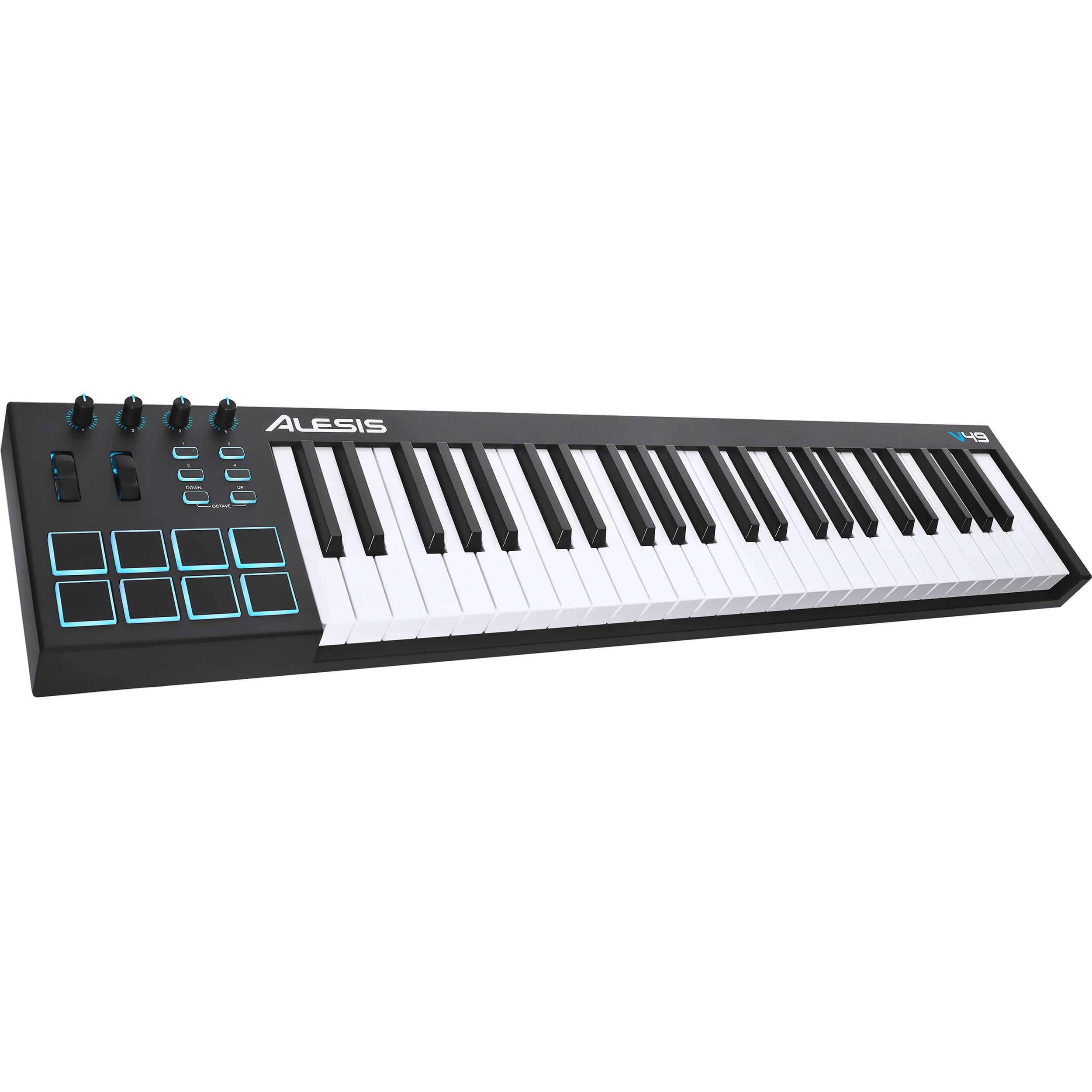 alesis v49 49 key usb midi keyboard controller v49 b h photo. Black Bedroom Furniture Sets. Home Design Ideas