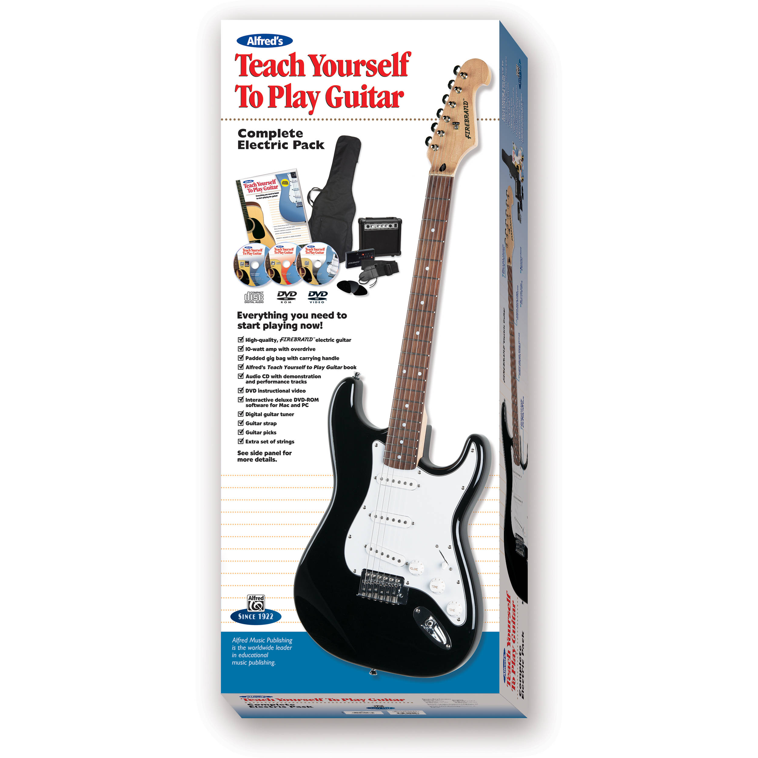 Alfred Teach Yourself To Play Electric Guitar Starter 00 39425