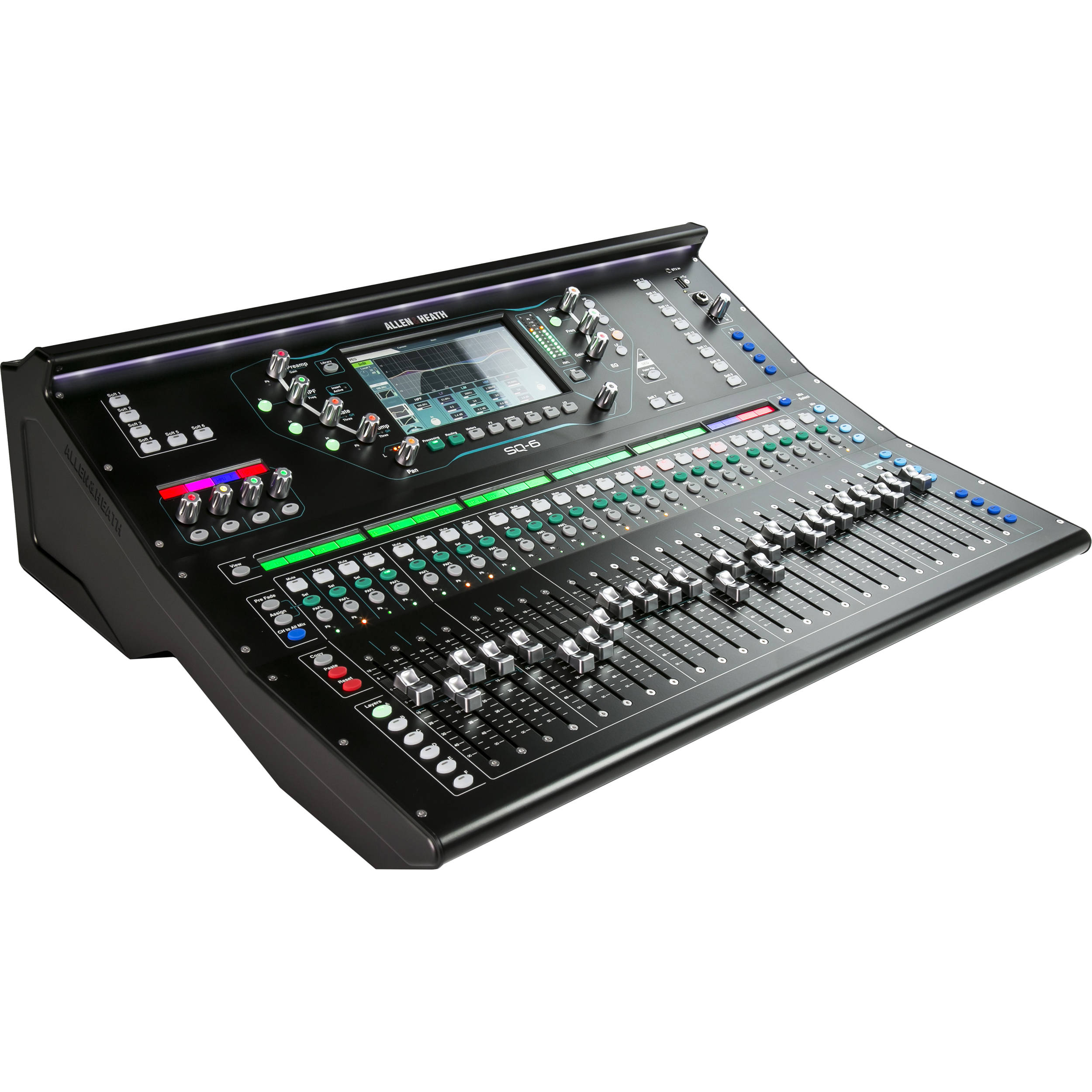 allen heath sq 6 48 channel 36 bus digital mixer ah sq 6 b h. Black Bedroom Furniture Sets. Home Design Ideas